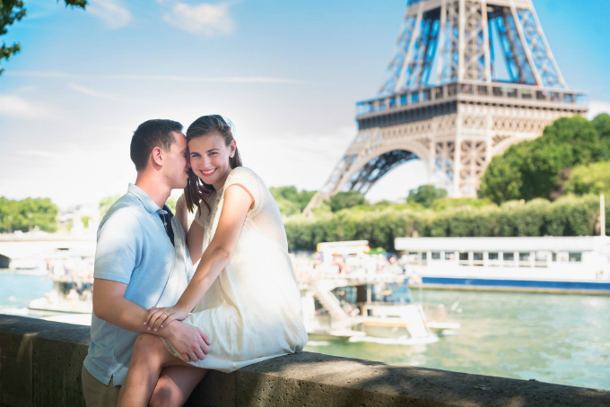 She Said Yes under the Eiffel Tower