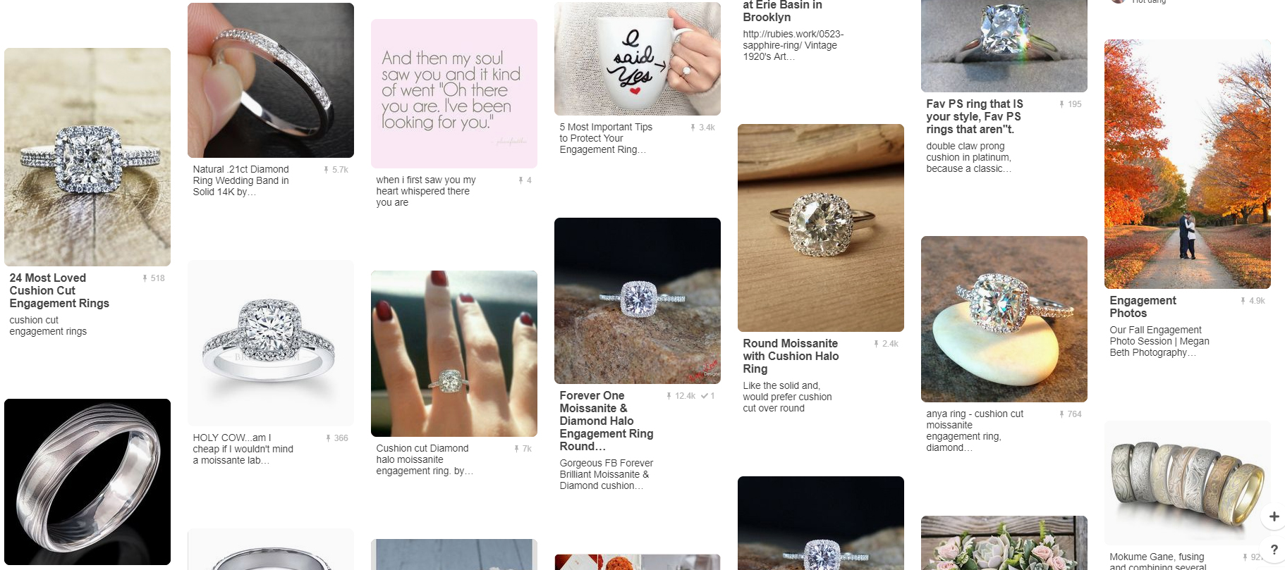 Perfect Engagement Rings on Pinterest
