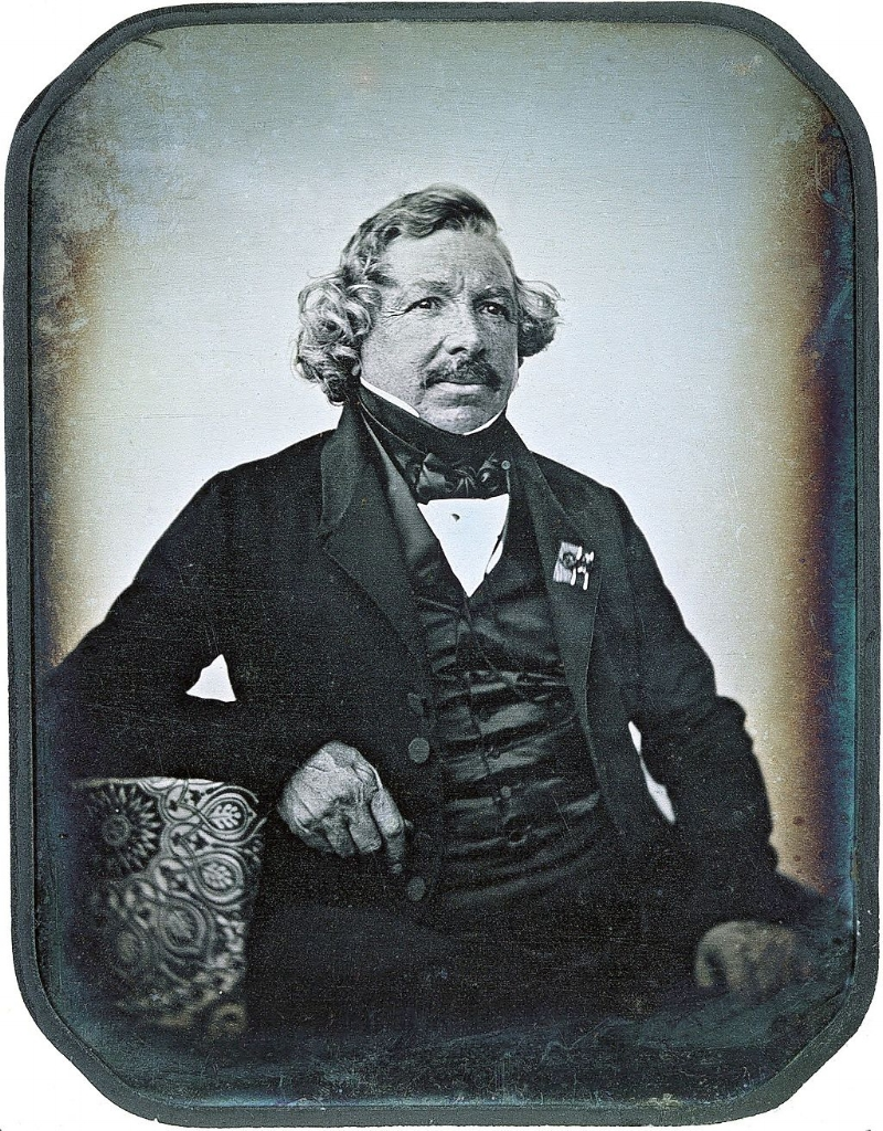 Daguerreotype of  Louis Daguerre  in 1844 by Jean-Baptiste Sabatier-Blot