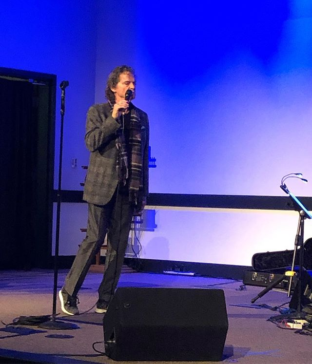 Sound check in Phoenix at my Community of Grace church. This is the only church that will still let me in. Lol. My great friend Tim Wright is pastor.