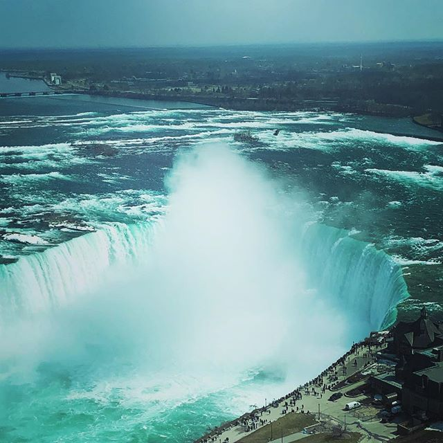 Awesome even from 35th floor. Niagara Falls,Ontario, Canada.