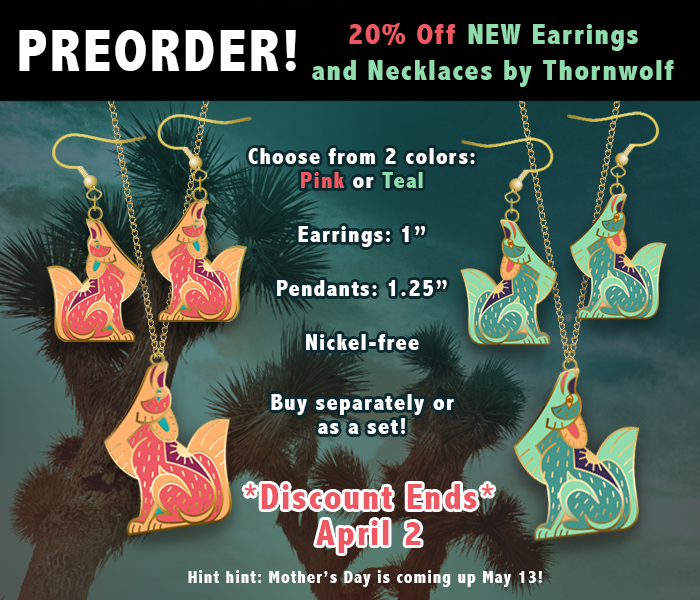 Southwest Coyote Earring Necklace Preorder 20 Discount.png