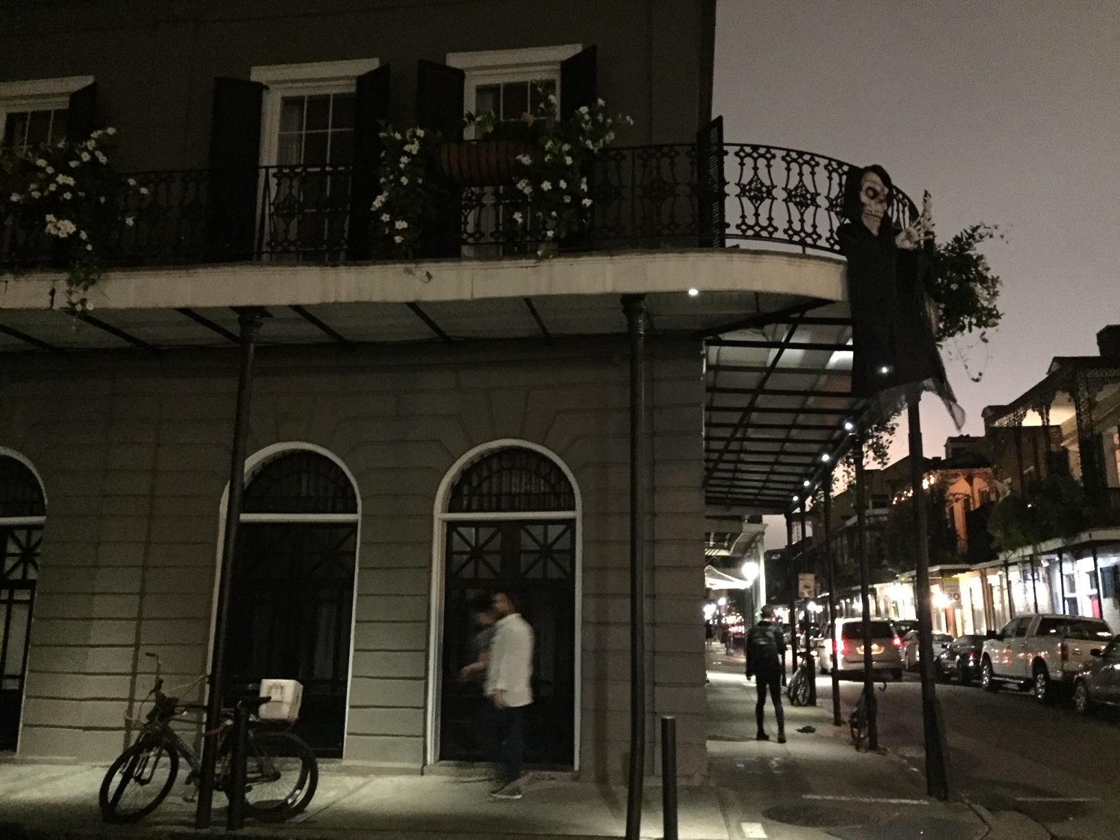 "The LaLaurie house. A ""real"" haunted house decorated for Halloween."
