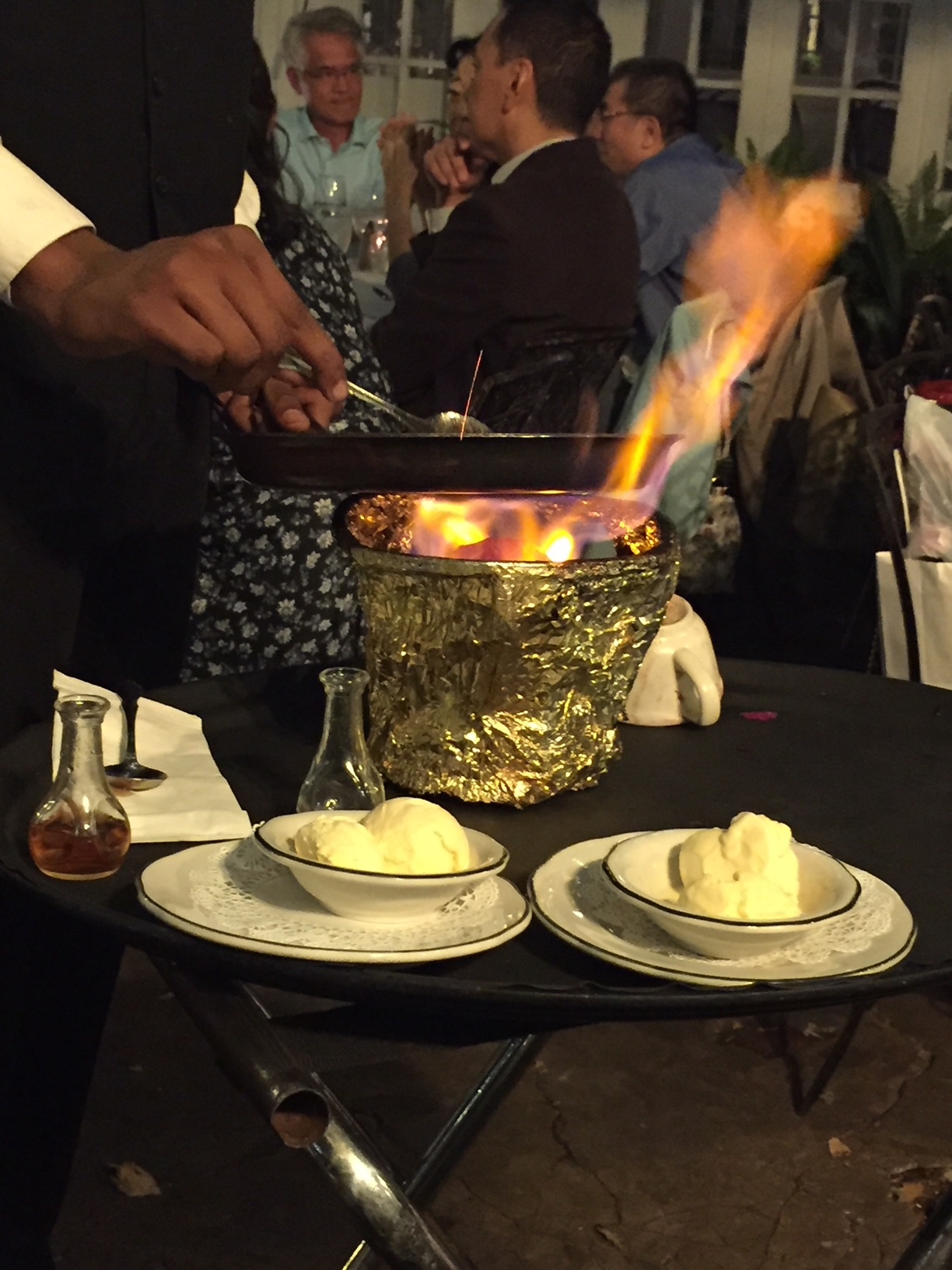 My friend asked me if it were between having to make tableside guacamole or Bananas Foster, which would I choose. Avocados don't tend to set people on fire on most days, and I'm clumsy.