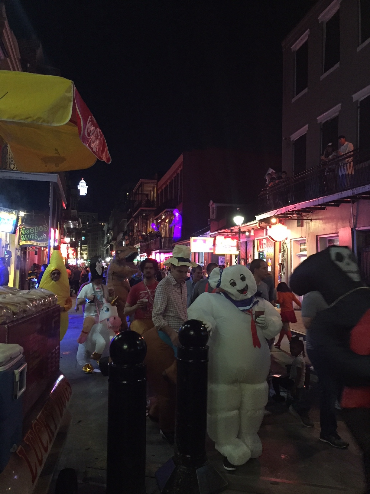 Bourbon Street 2 days before Halloween. It was fun, but I'm glad you can't smell this photo.