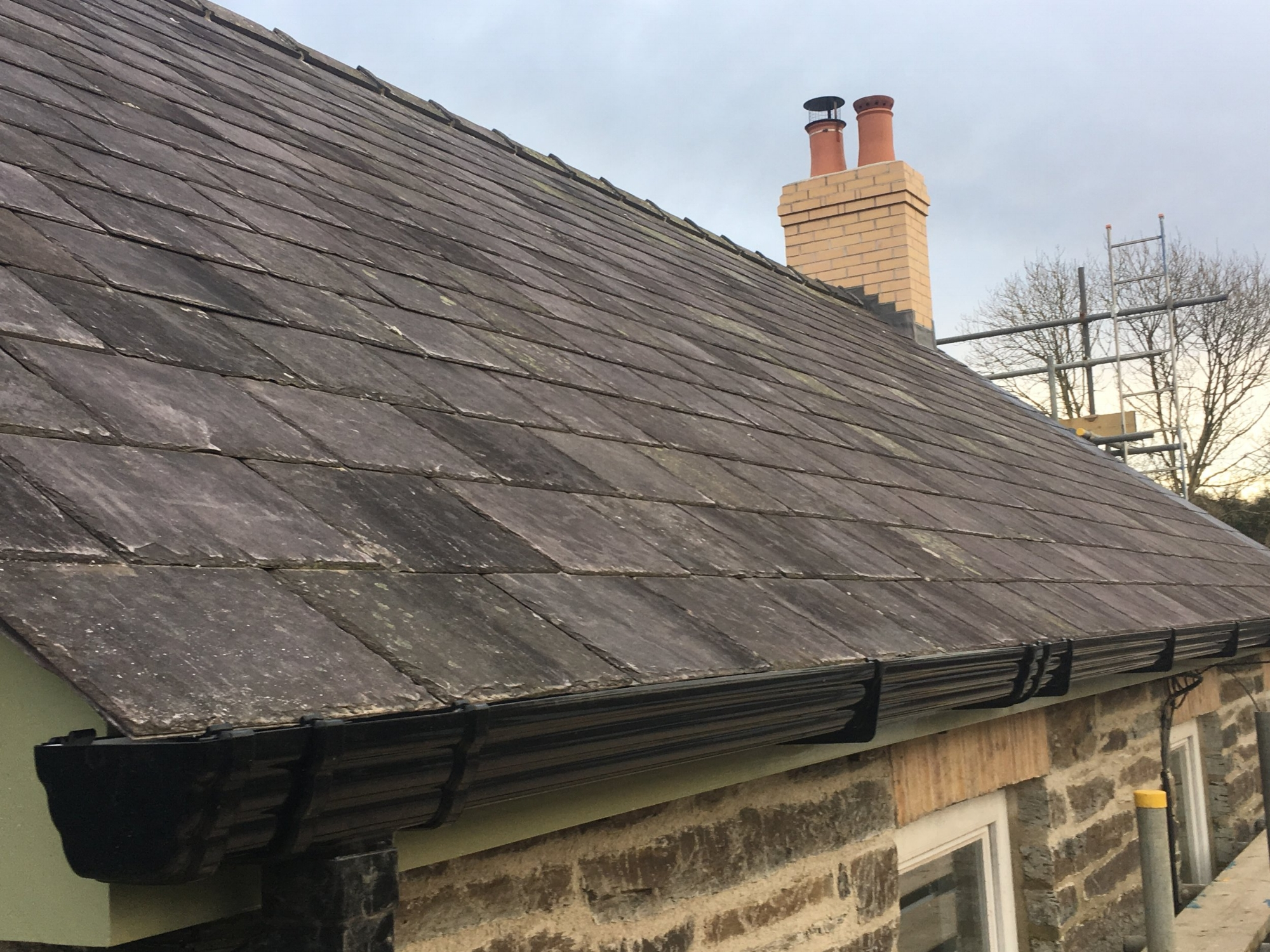 Roof at Castle House, Brongest