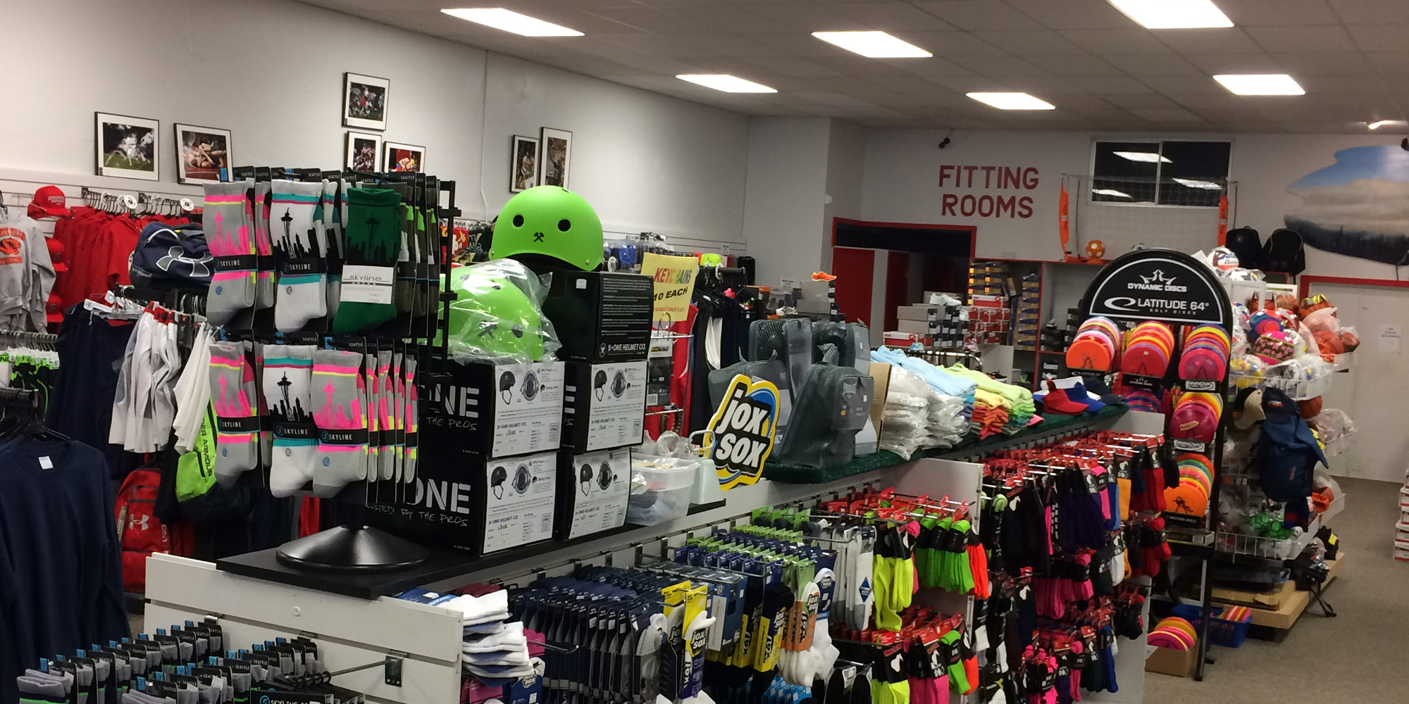 inside sports equipment store