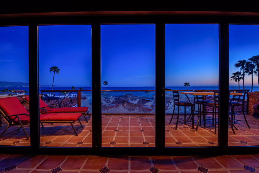 """#82 Pelicanos Oeste, La Gaviotas, Baja California, Mexico   Laura's Ocean-View Rental    Las Gaviotas, Mexico, 25 minutes south of the San Diego/Mexican Border    Type:  Single Family Detached   BR/BA : 2/2, Approximately 1100 SF  See  Website here    Price:  $250/night, $450/weekend, $1000/week, $3000/month   Description/Features:  Located 1/2 hour south of the San Diego/Mexico border, Las Gaviotas is the premier community in Northern Baja! From the cobblestone entry to the bluff-top pool to the sandy beach raked daily, every inch of Las Gaviotas astonishes with surreal beauty. A remarkable feature not found in any other community, waves pound - often ferociously - on the oceanfront stone paths enjoyed by all residents and guests. Far better than a crowded or generic resort, Las Gaviotas feels like a playground or retreat for the well-to-do. Built """"old school"""" with Saltillo tile, beamed ceilings, brick walls and Spanish tile, # 82 Pelicanos Oeste is every inch romantic, rustico colonial. Recent upgrades include an 8' x 20' vanishing glass wall that brings the outdoors in, all new kitchen appliances, all new tile floors and tile roof and new expansive deck that enjoys 180 degree, unobstructed ocean views. All furnishings custom built by local artisans and the art is also high end, original and by local artists. Included in the rental are WiFi, dozens of movie DVDs to play on the flat screen, linens, flatware, Anthropologie dishes, microwave, blender, pots and pans - everything to make your stay turn key."""
