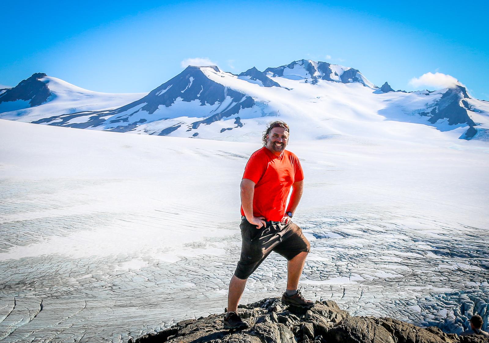 The Harding Icefields in Alaska