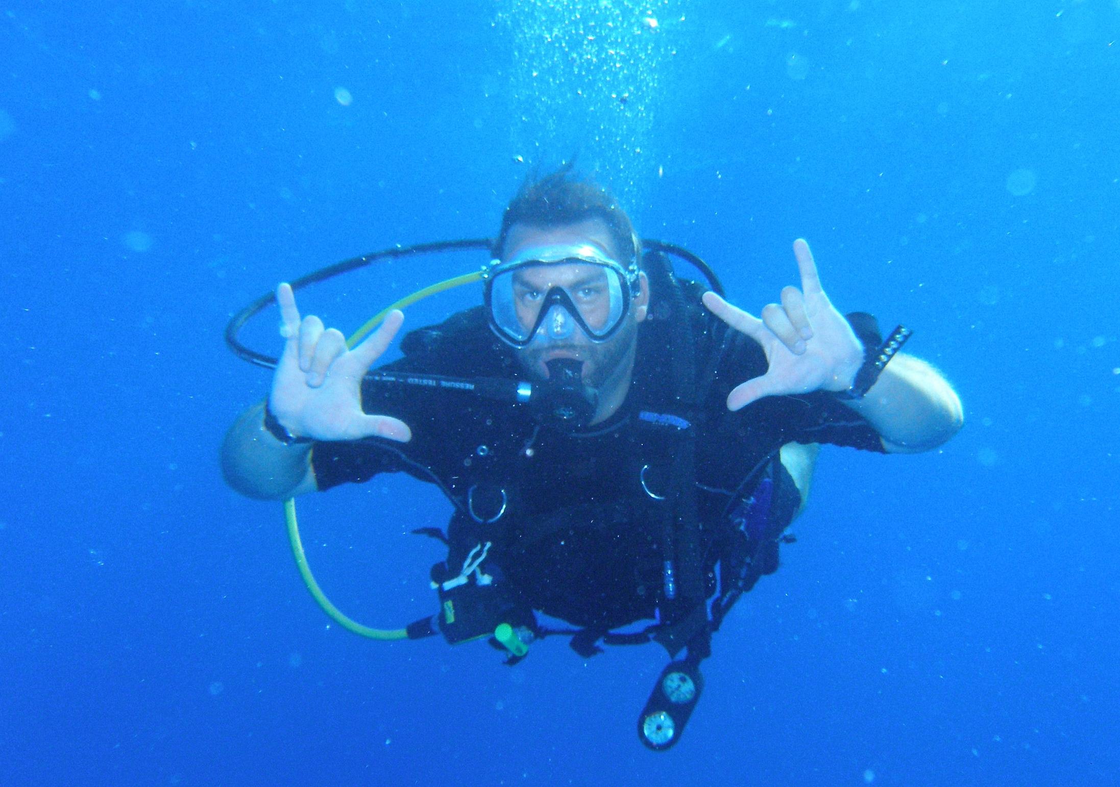 50 feet underwater. My happy place.