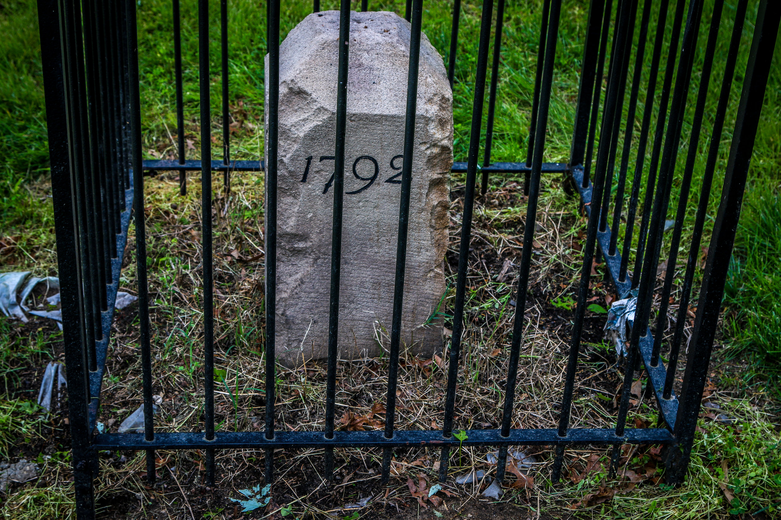 The Virginia Stones were Laid in 1791, the Maryland Stones in 1792