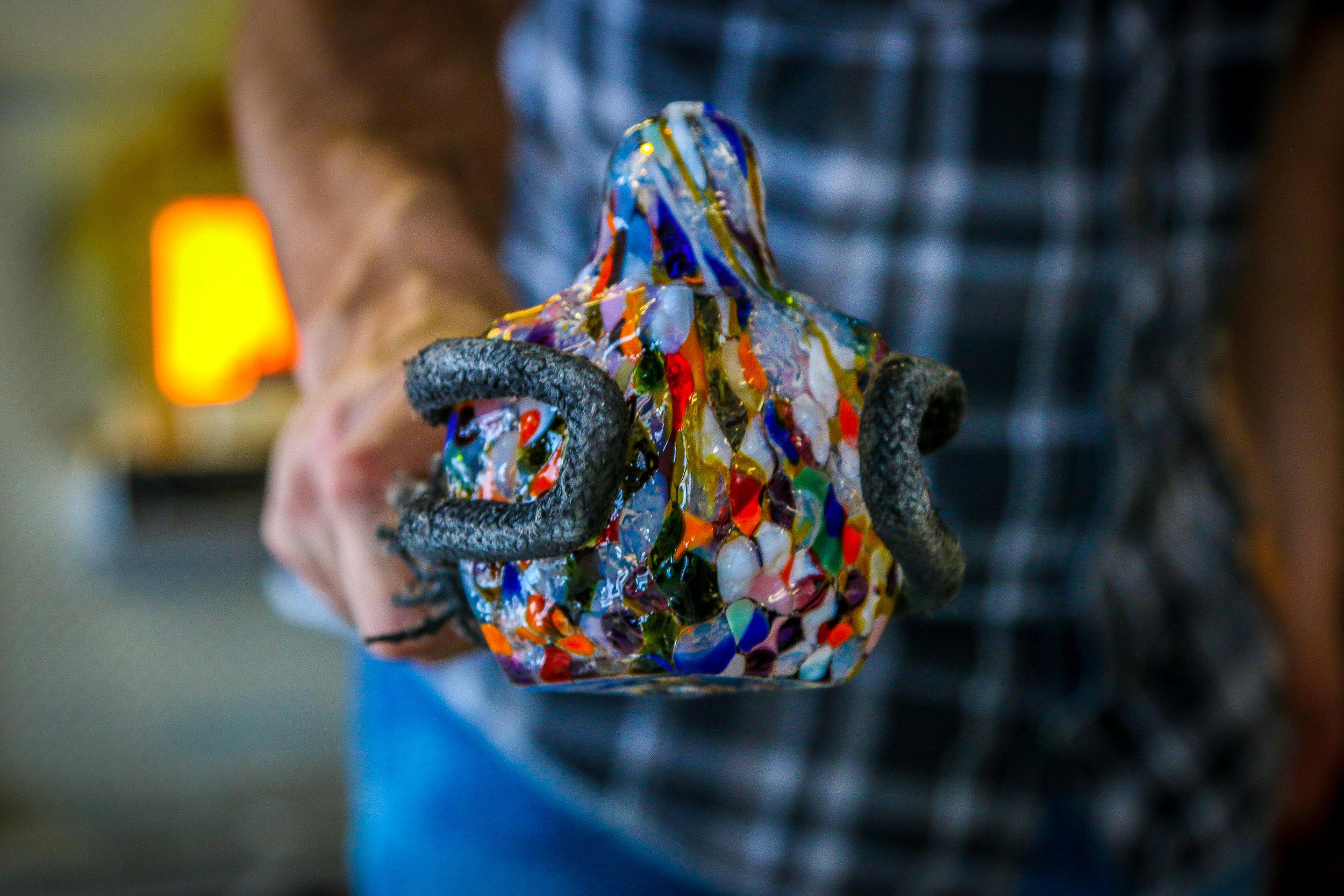 Beautiful Hand-Blown Molded Glass