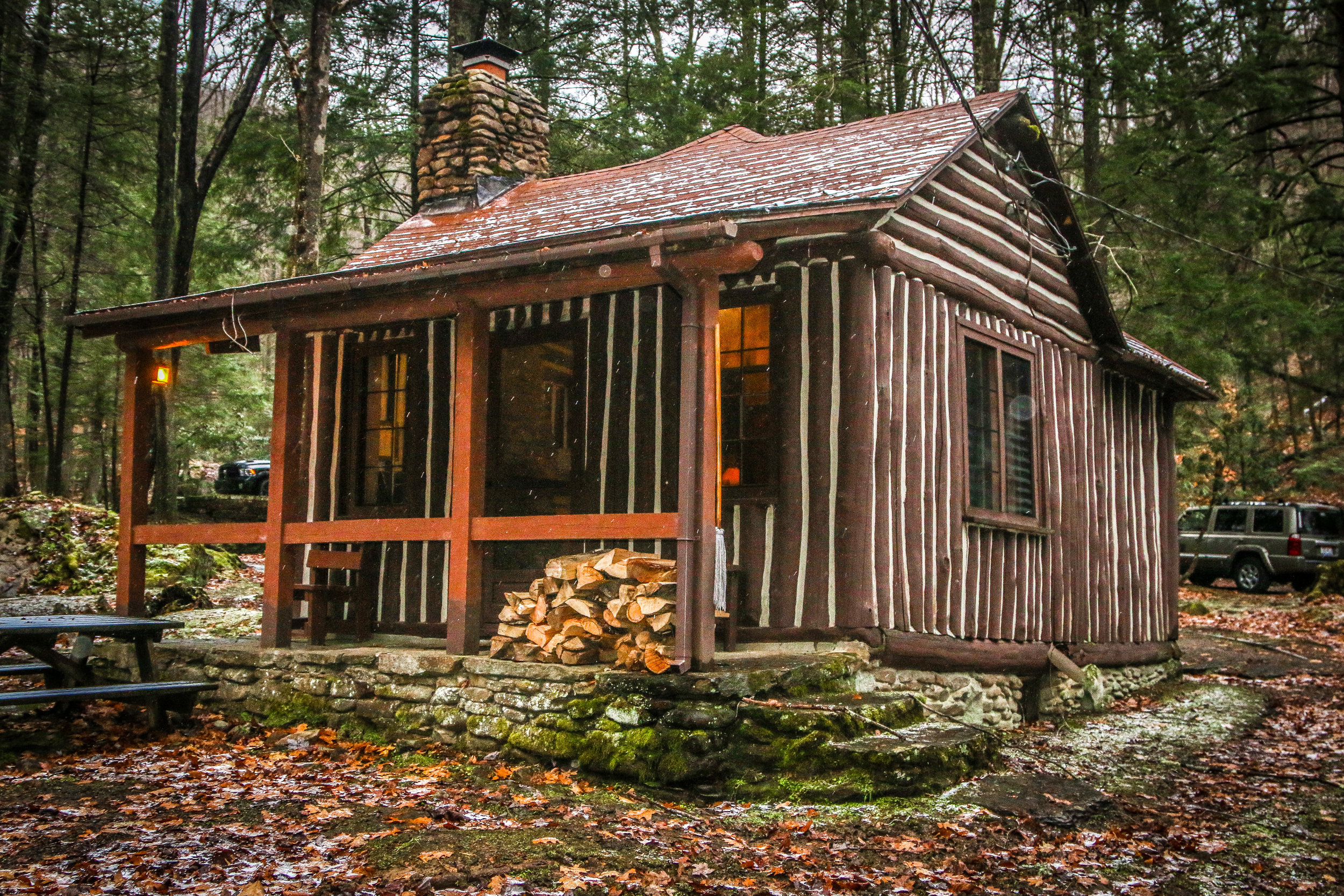 CCC Cabin, Holly River State Park