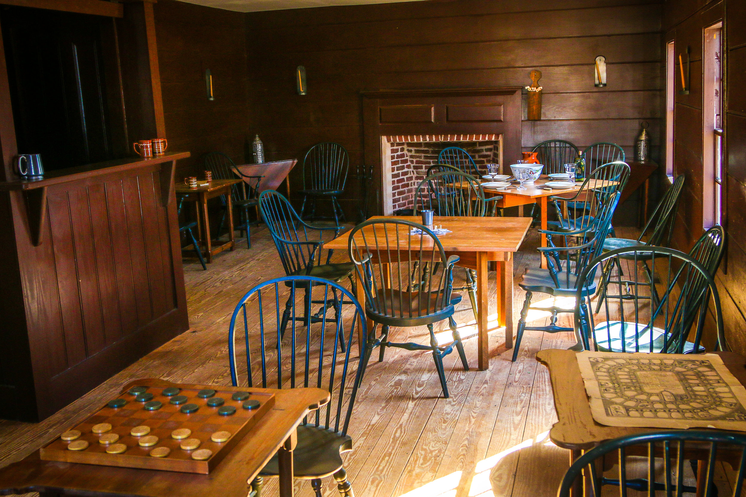 """Inside the Recreated """"Tap Room"""""""