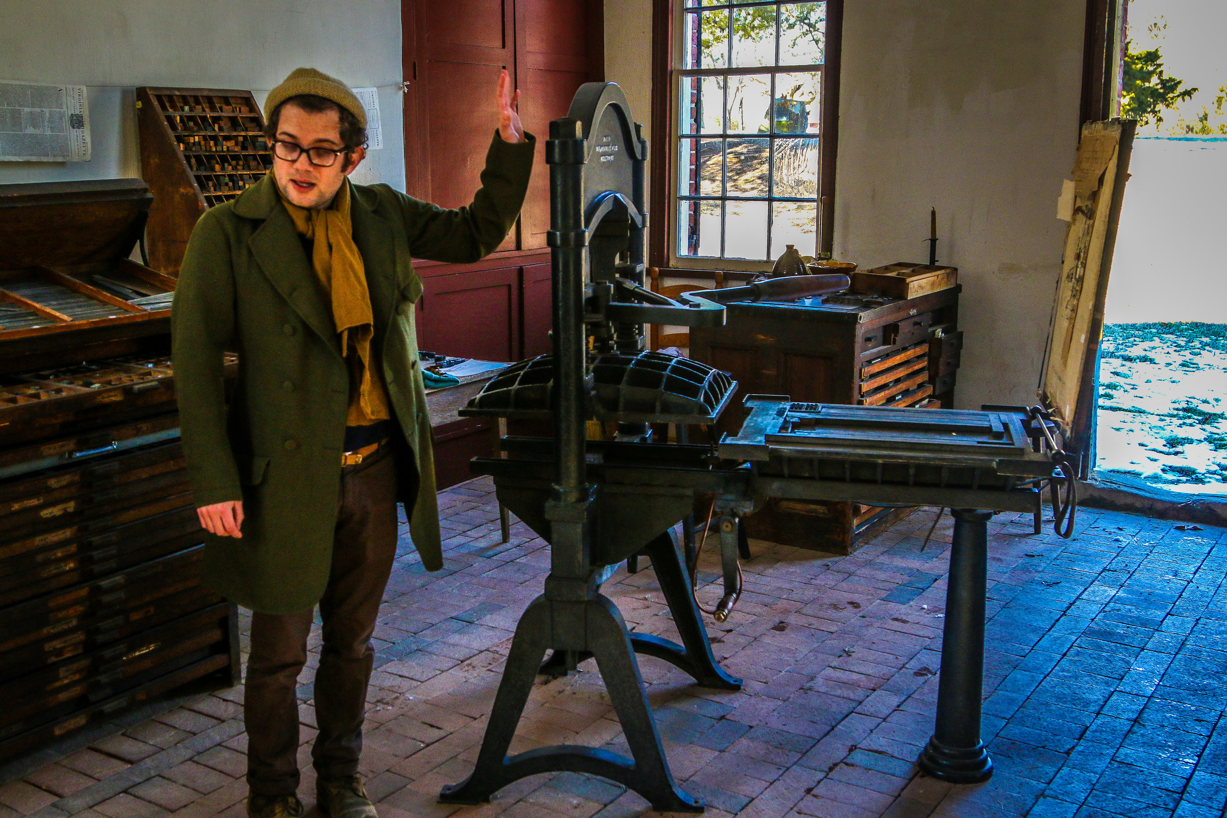 Learning to use a Printing Press