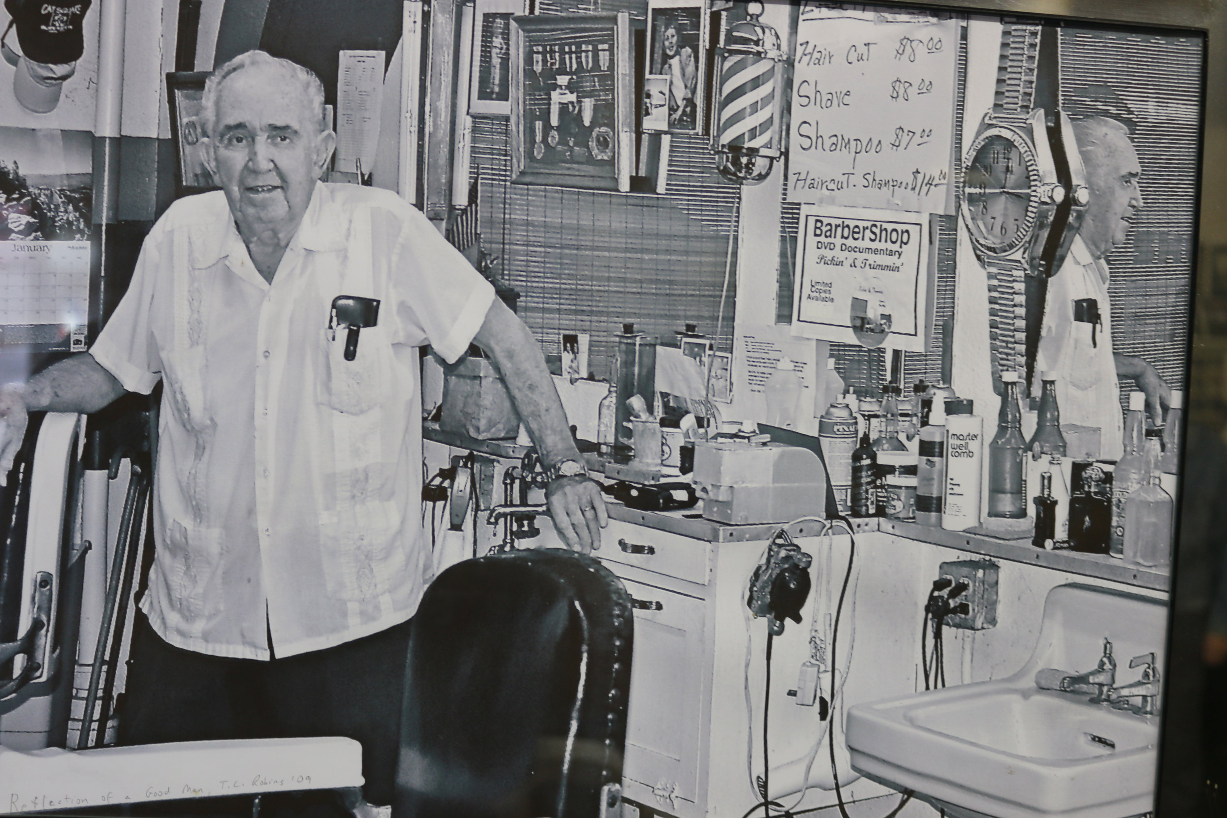 Lawrence Anthony in His Barber Shop