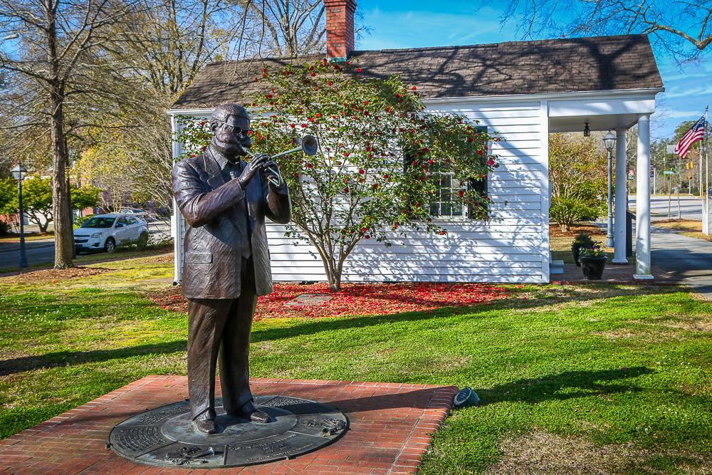 Dizzy Gillespie Statue in Downtown Cheraw