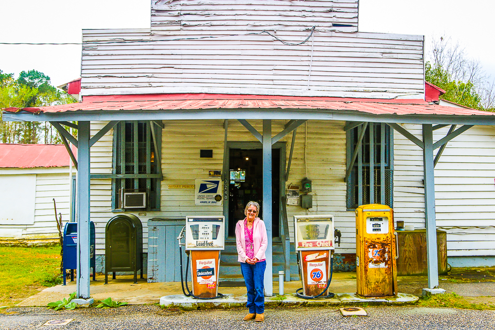 Beverly in Front of Her Family Store