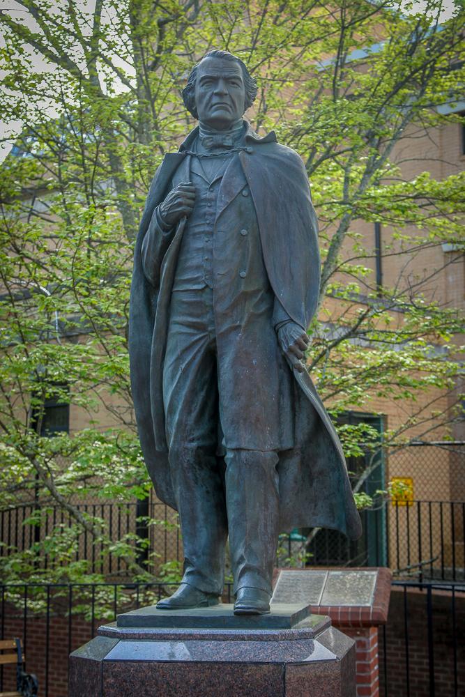 Andrew Johnson Statue - Greenville
