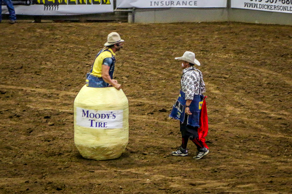 Rodeo Clowns Keeping Everyone Safe
