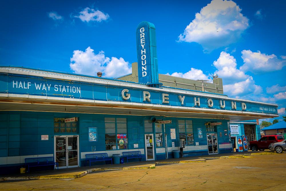 Classic Greyhound Station in Jackson