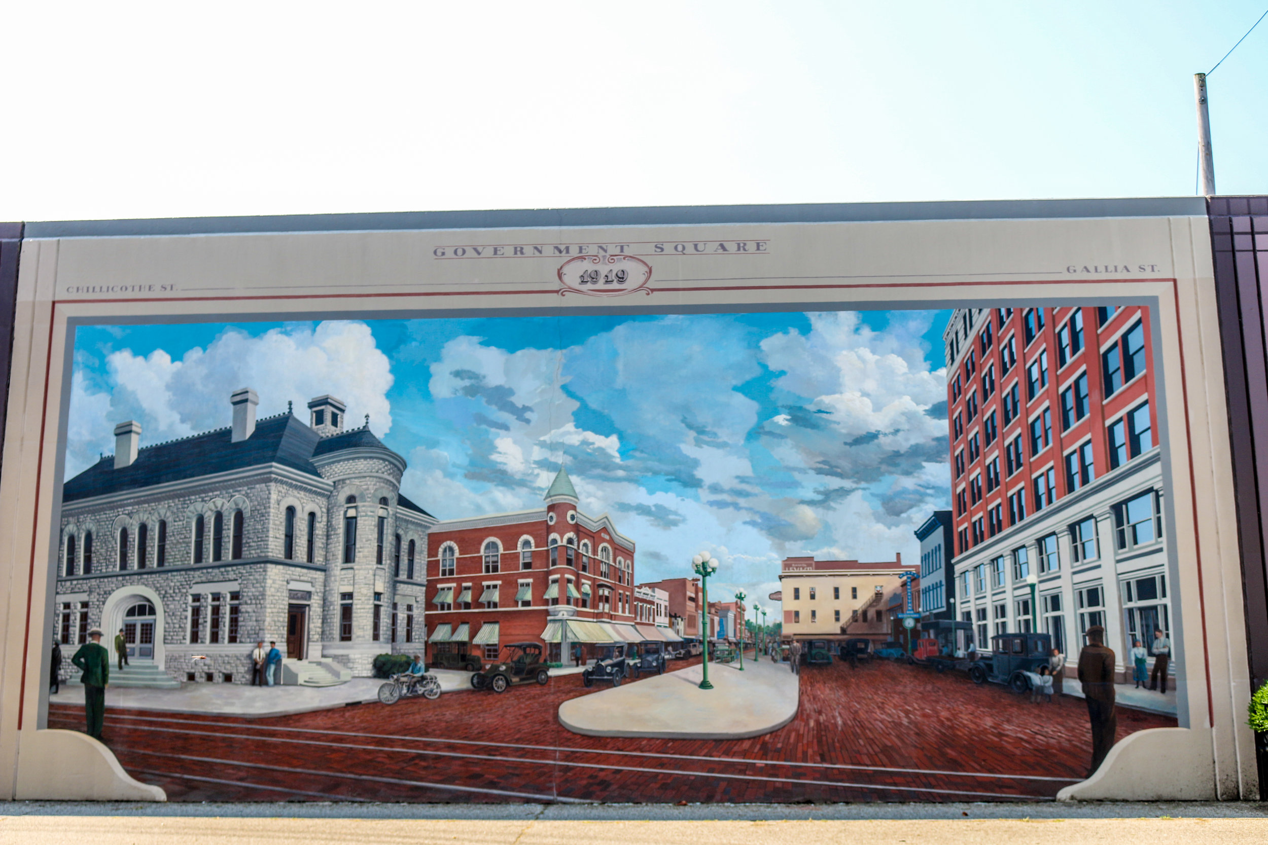 Portsmouth Floodwall Murals Ohio Flood Wall Paintings Outdoor Art