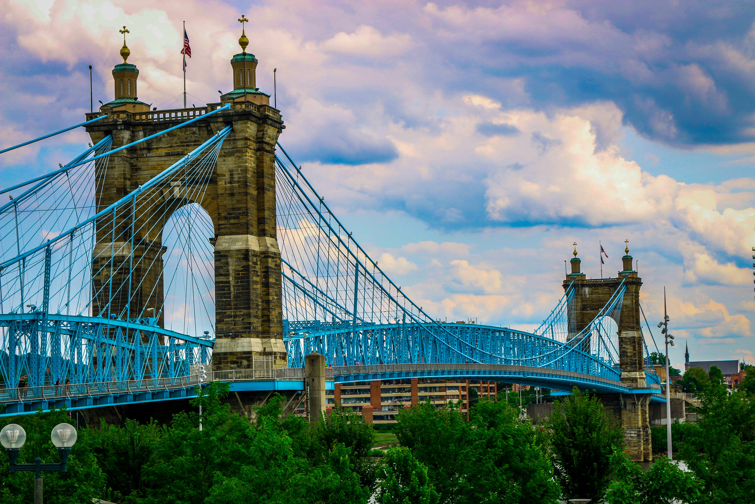 bridge suspension Cincinnati Ohio John A Roebling