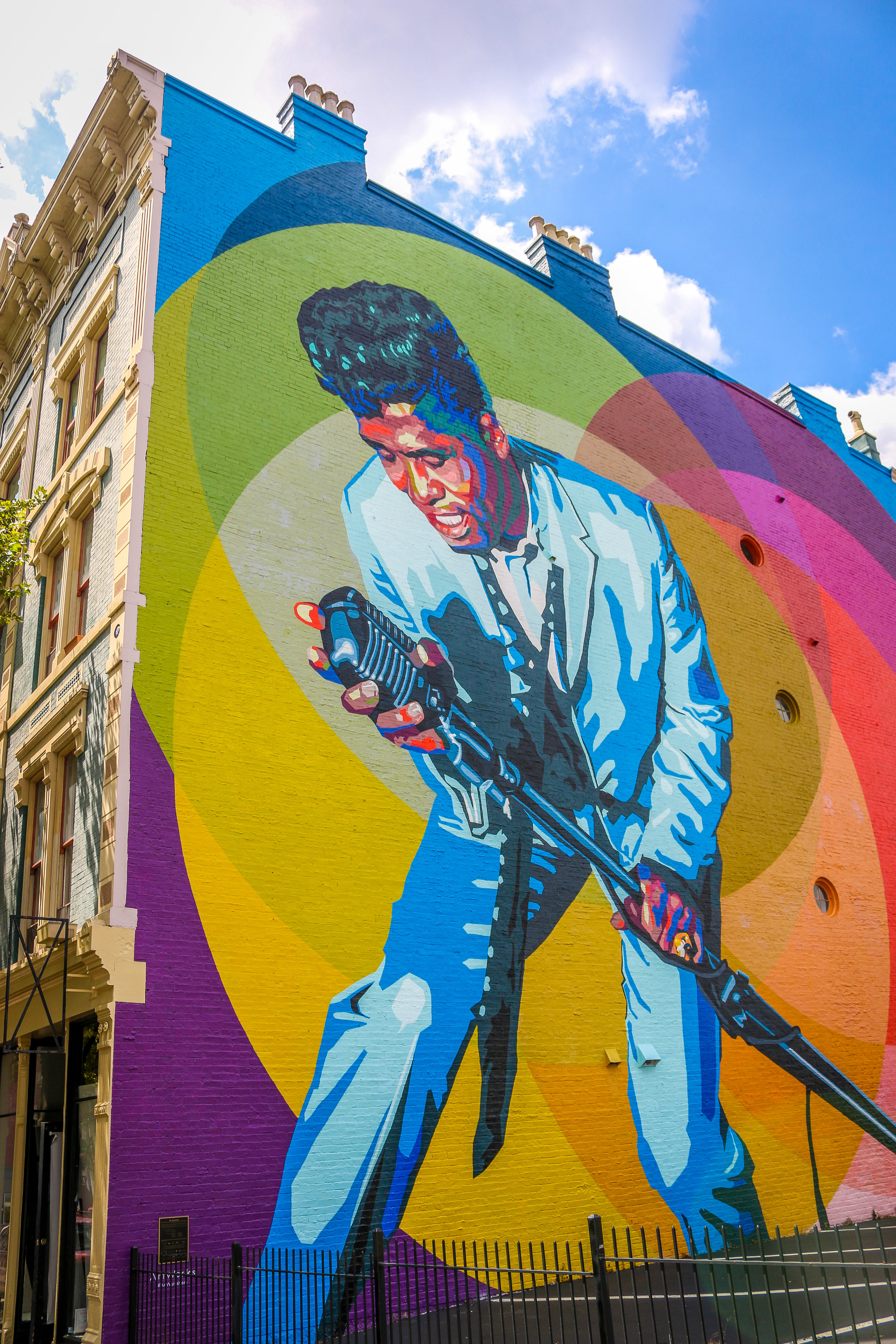 james brown mural Cincinnati Ohio