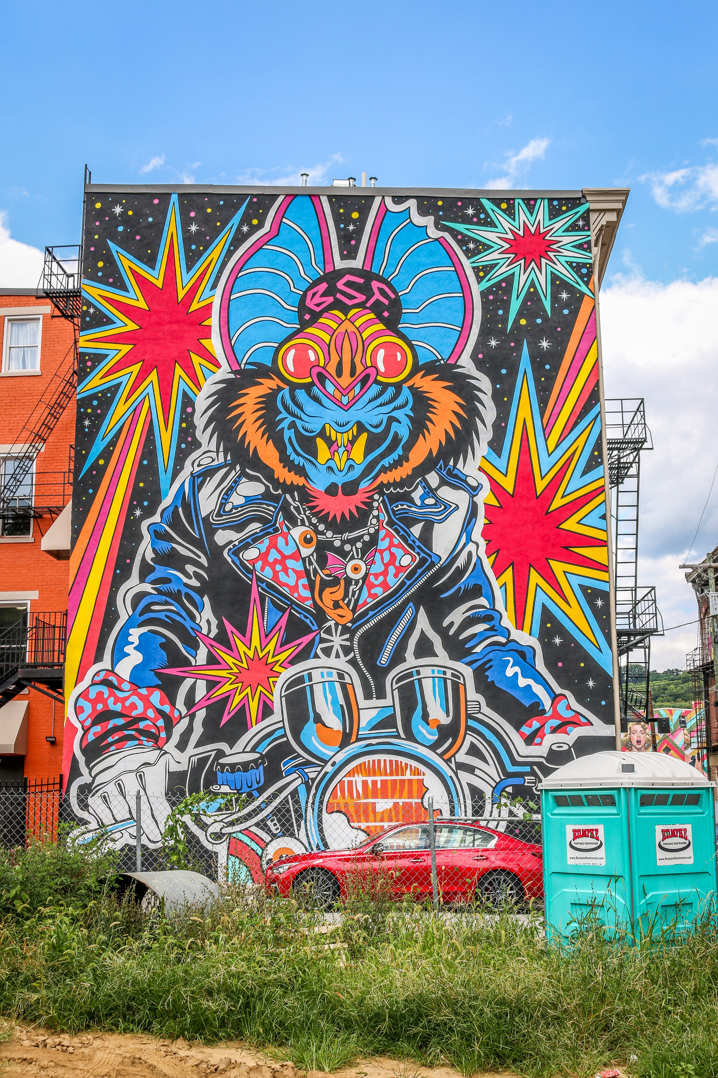 psychedelic mural Cincinnati Ohio