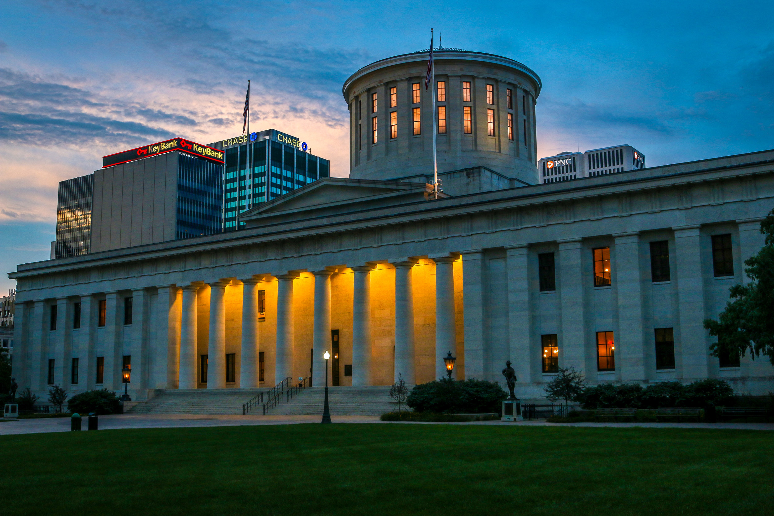 Ohio Statehouse at Dusk