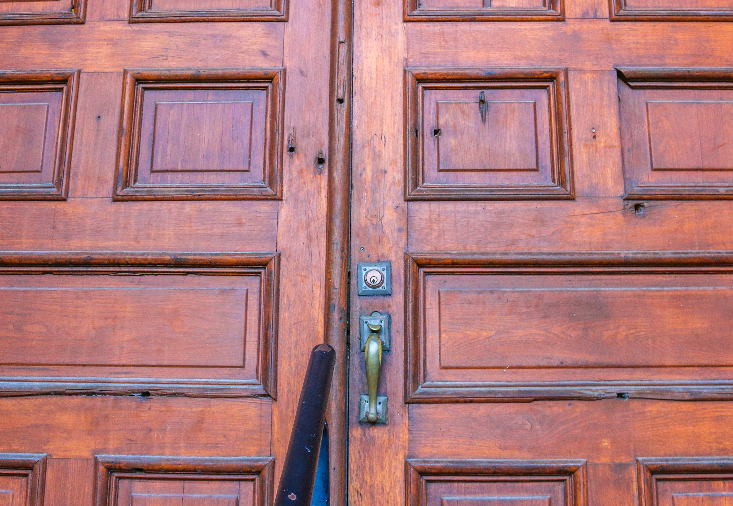 Bullet Riddled Doors