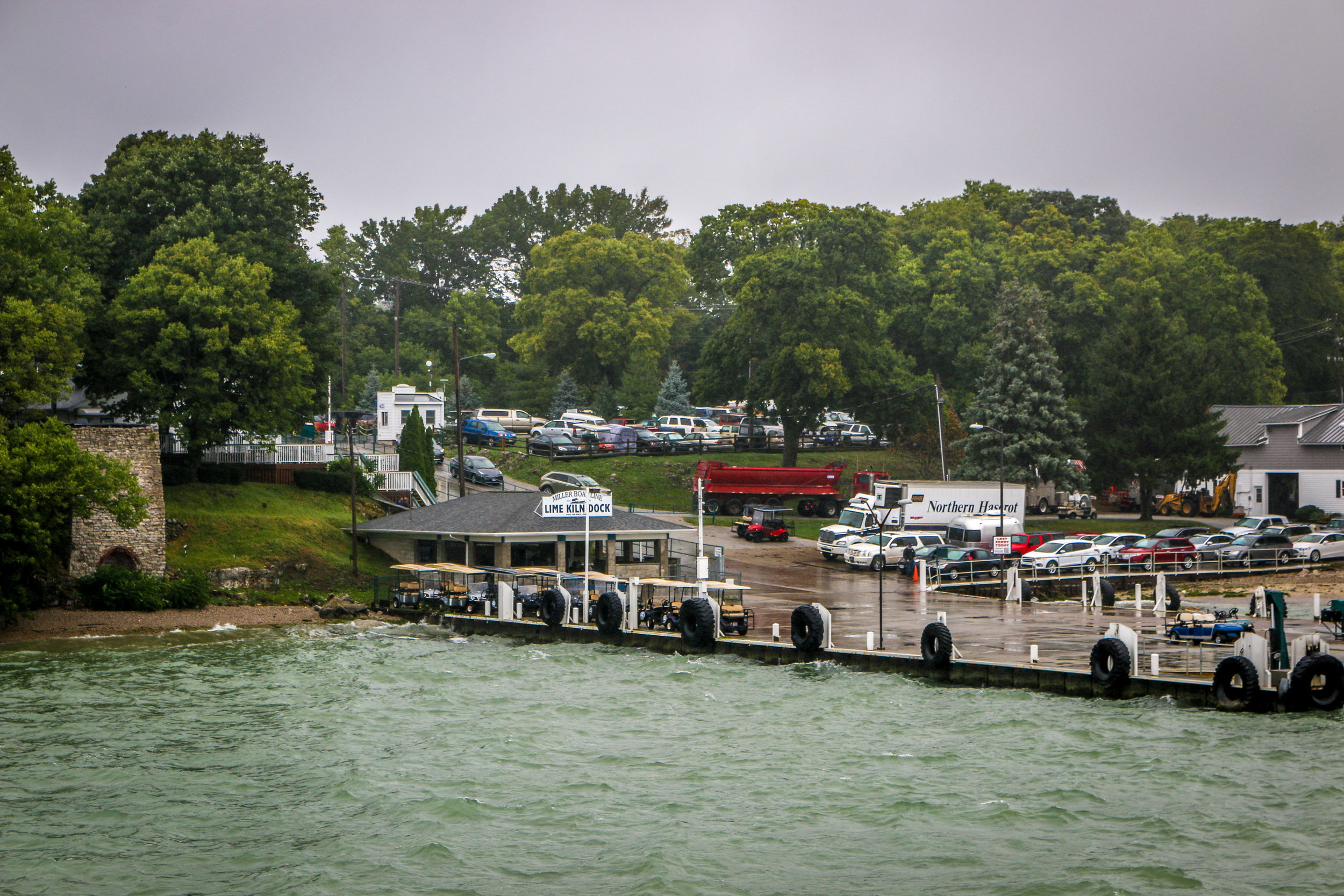 Arriving on South Bass Island