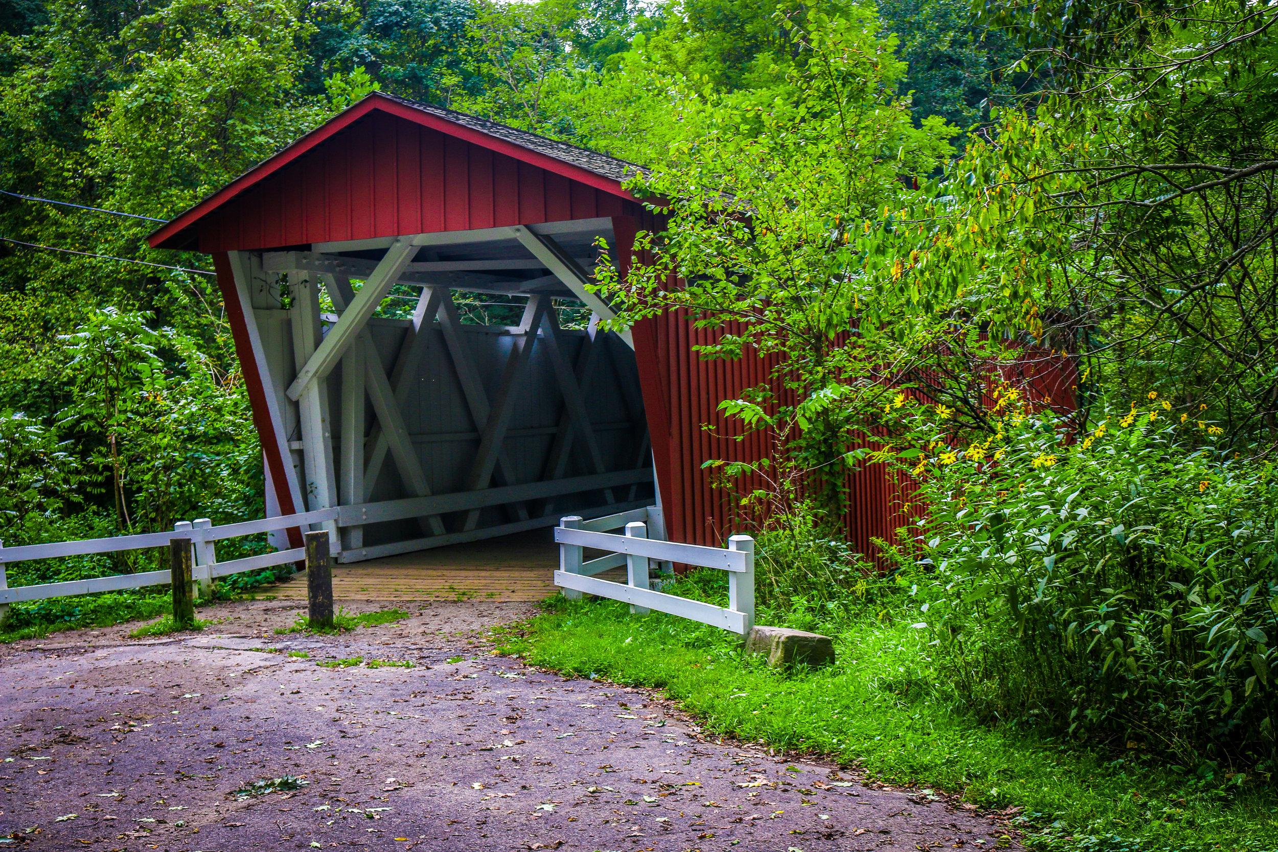 cuyahoga valley national park ohio oh nps everett covered bridge
