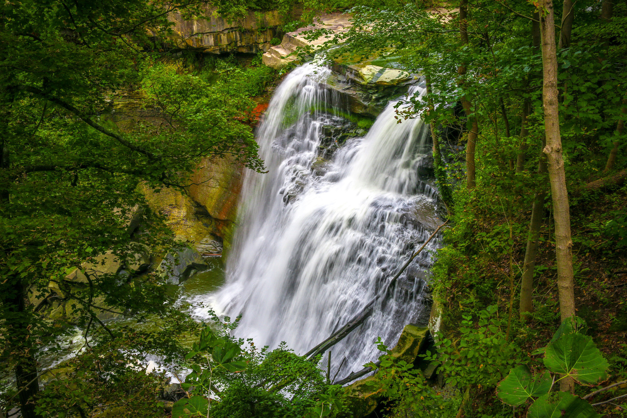 cuyahoga valley national park ohio oh nps bandywine falls waterfall