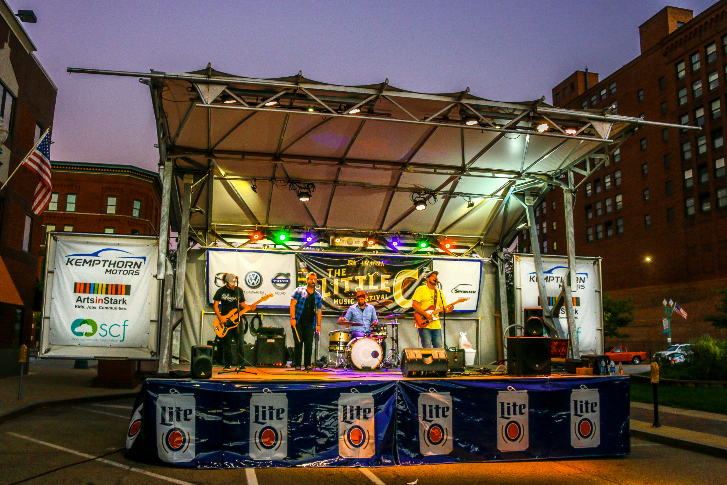 Hey Monea Opening the Little C Music Festival in Downtown Canton, Ohio