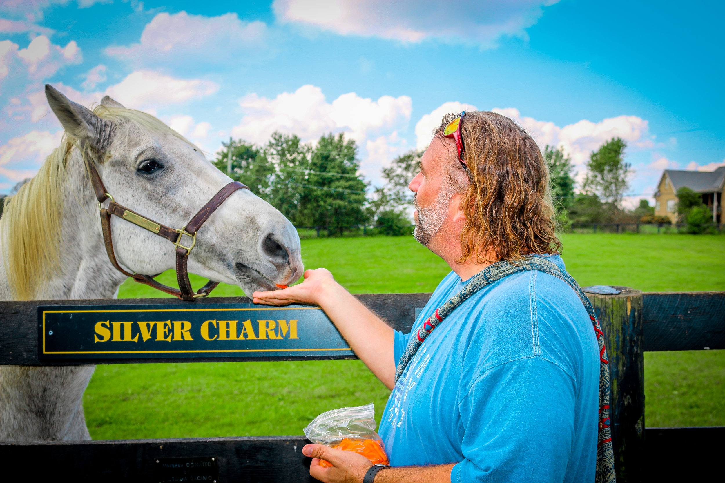 Me and Silver Charm at Old Friends Farm