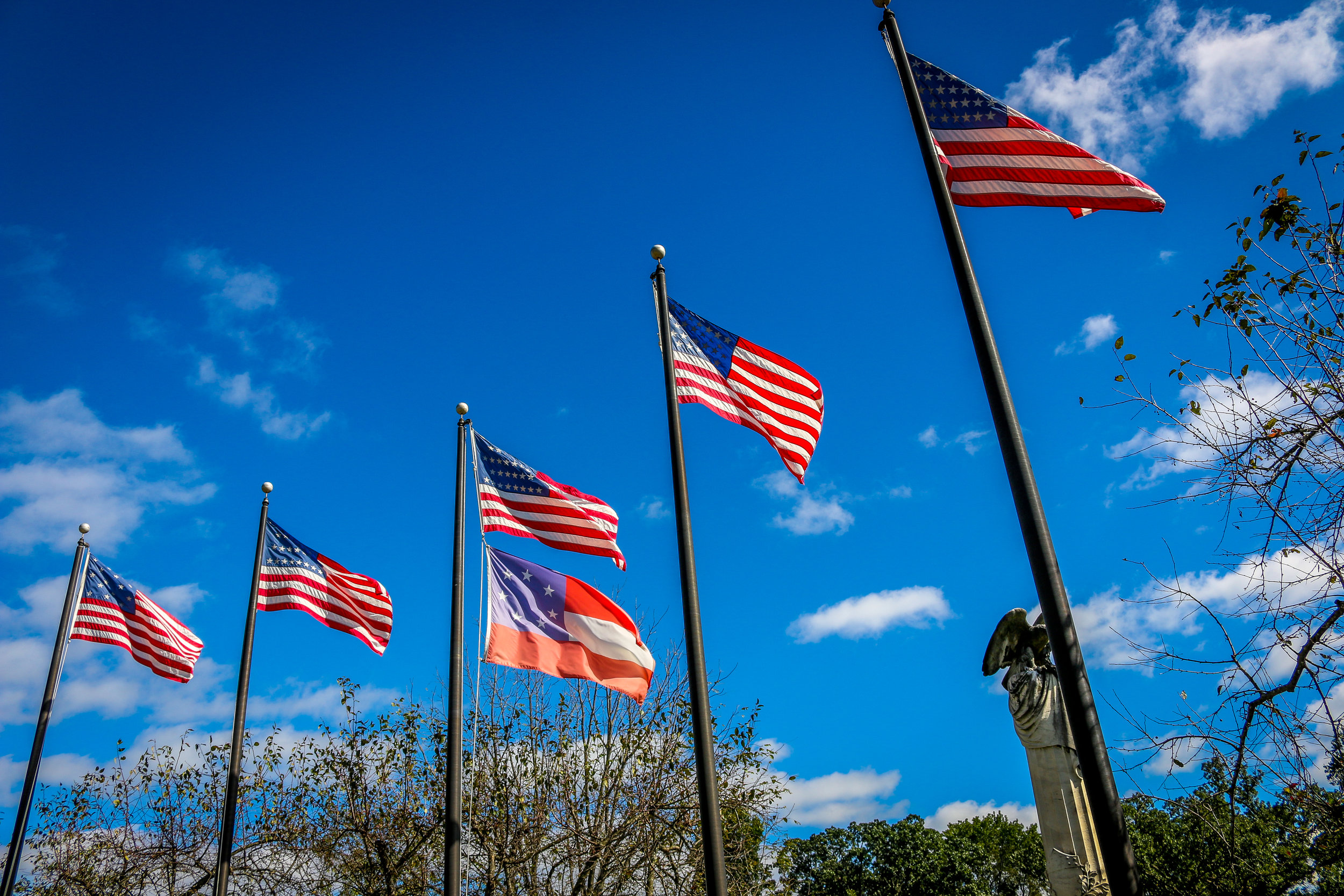 Flag Display at the Frankfort Cemetery