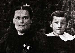 A Young Harland with his Mother