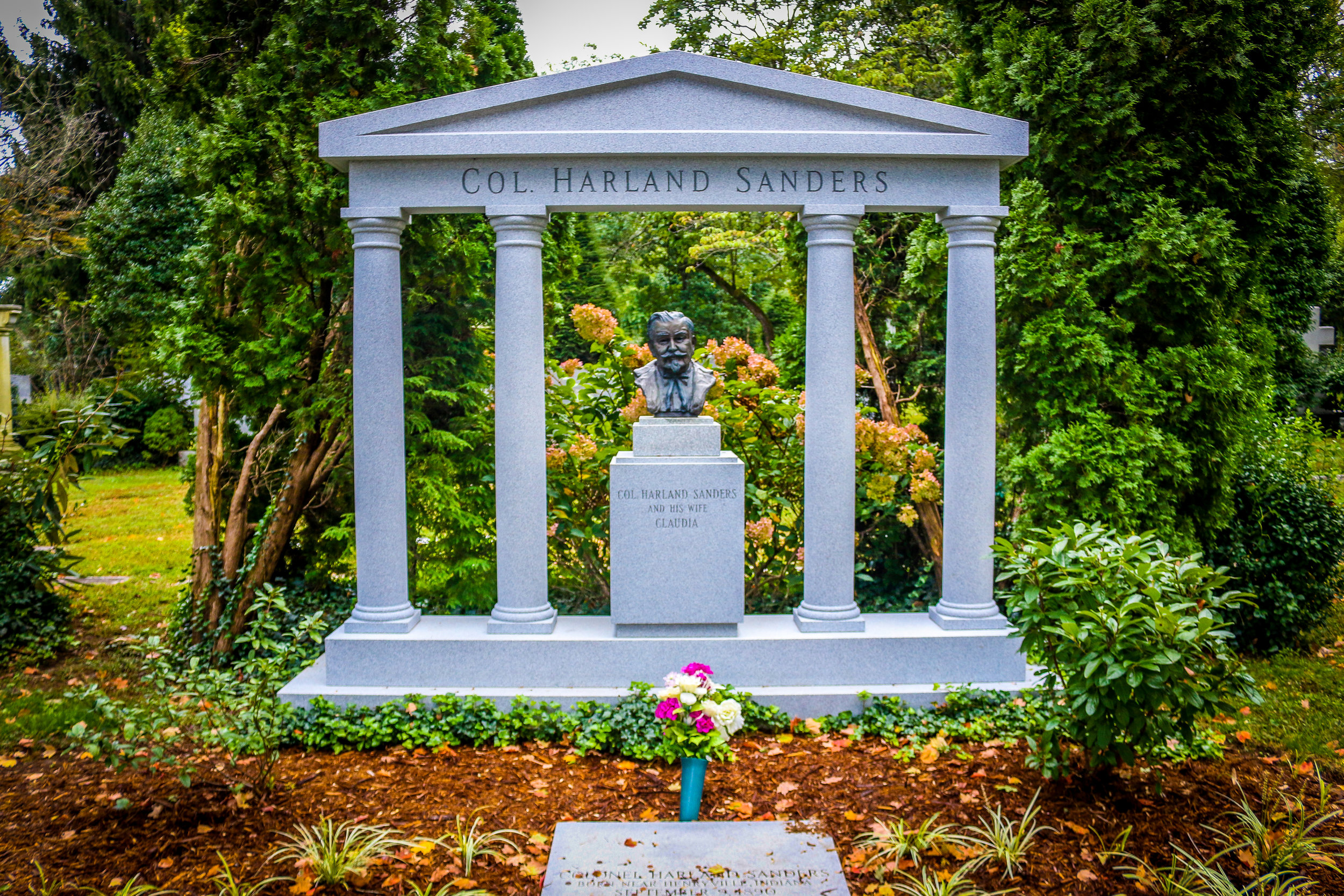 Colonel Sanders' Final Resting Place in Cave Hill Cemetery in Louisville, Kentucky