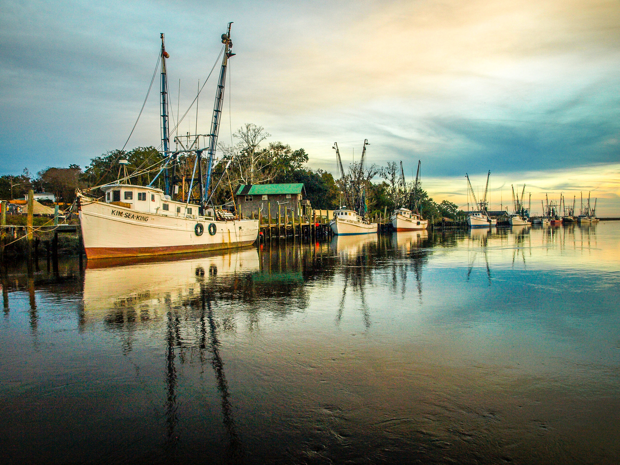 Shrimp Boats in Darien