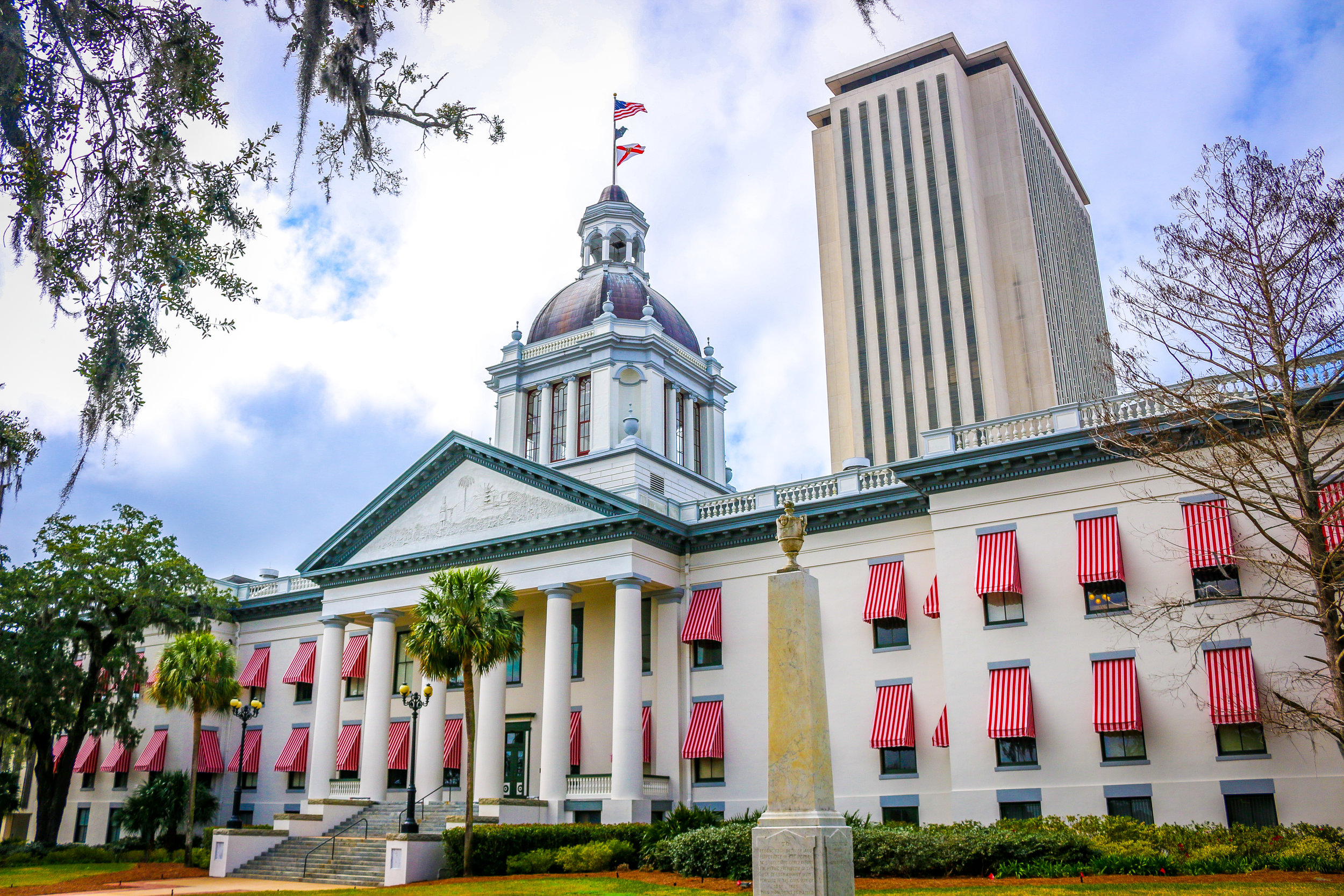 The Old State Capitol in Front of the New State Capitol