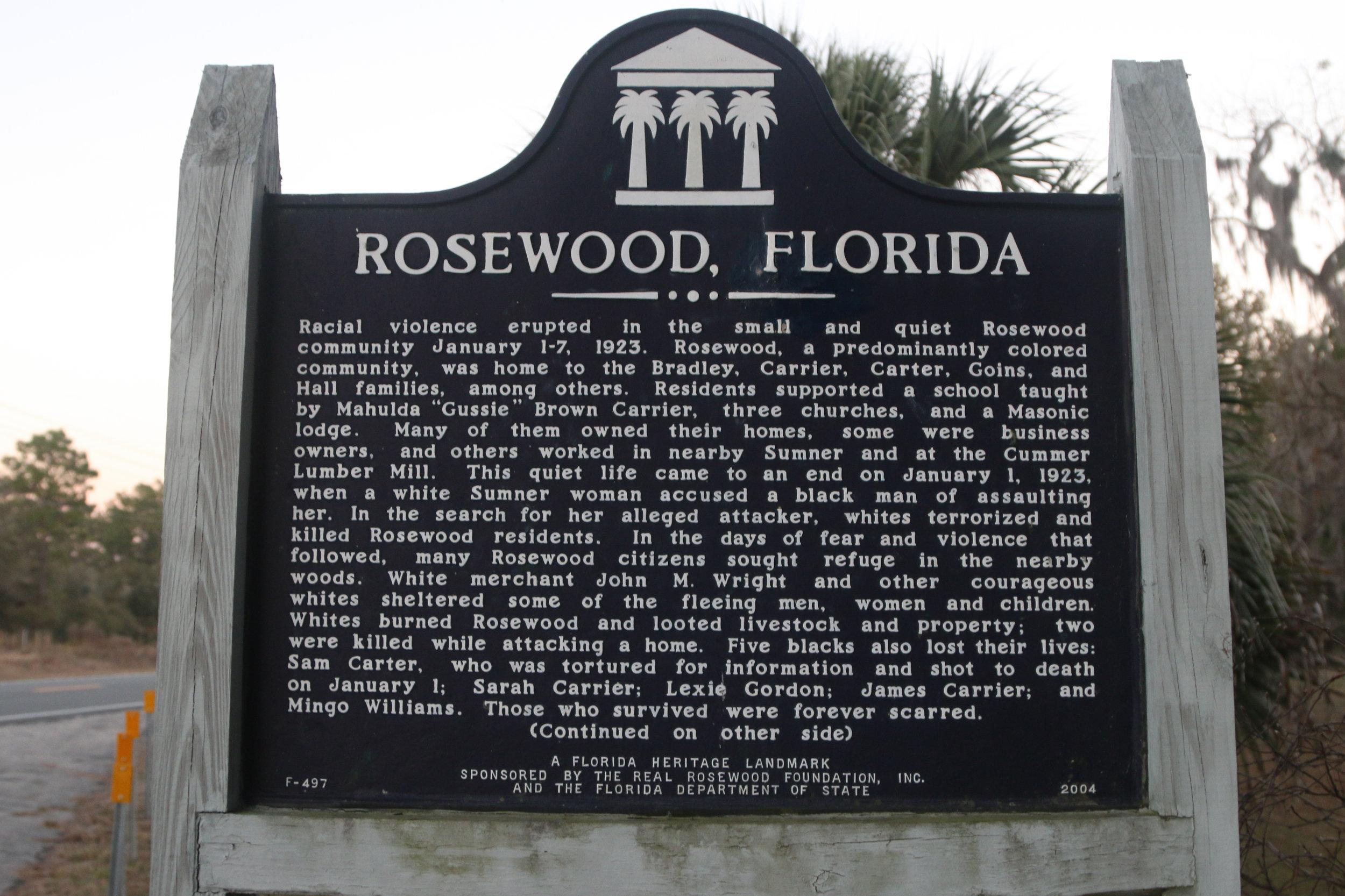 rosewood massacre florida