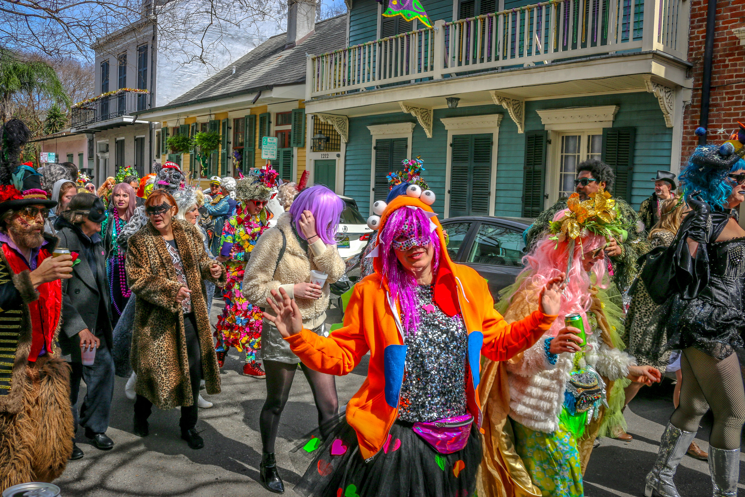 Parading in the Marigny