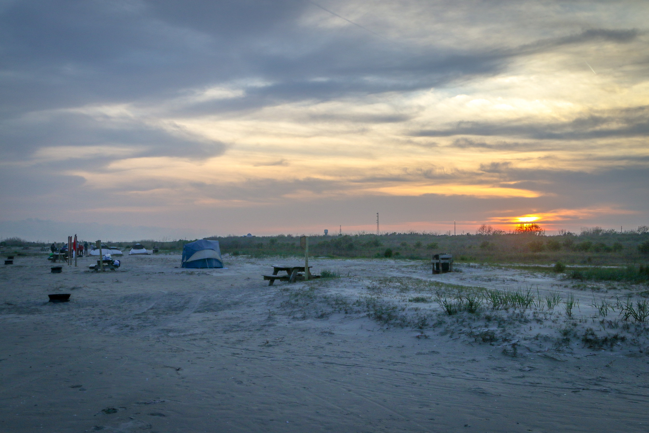 Beach Camping on Grand Isle