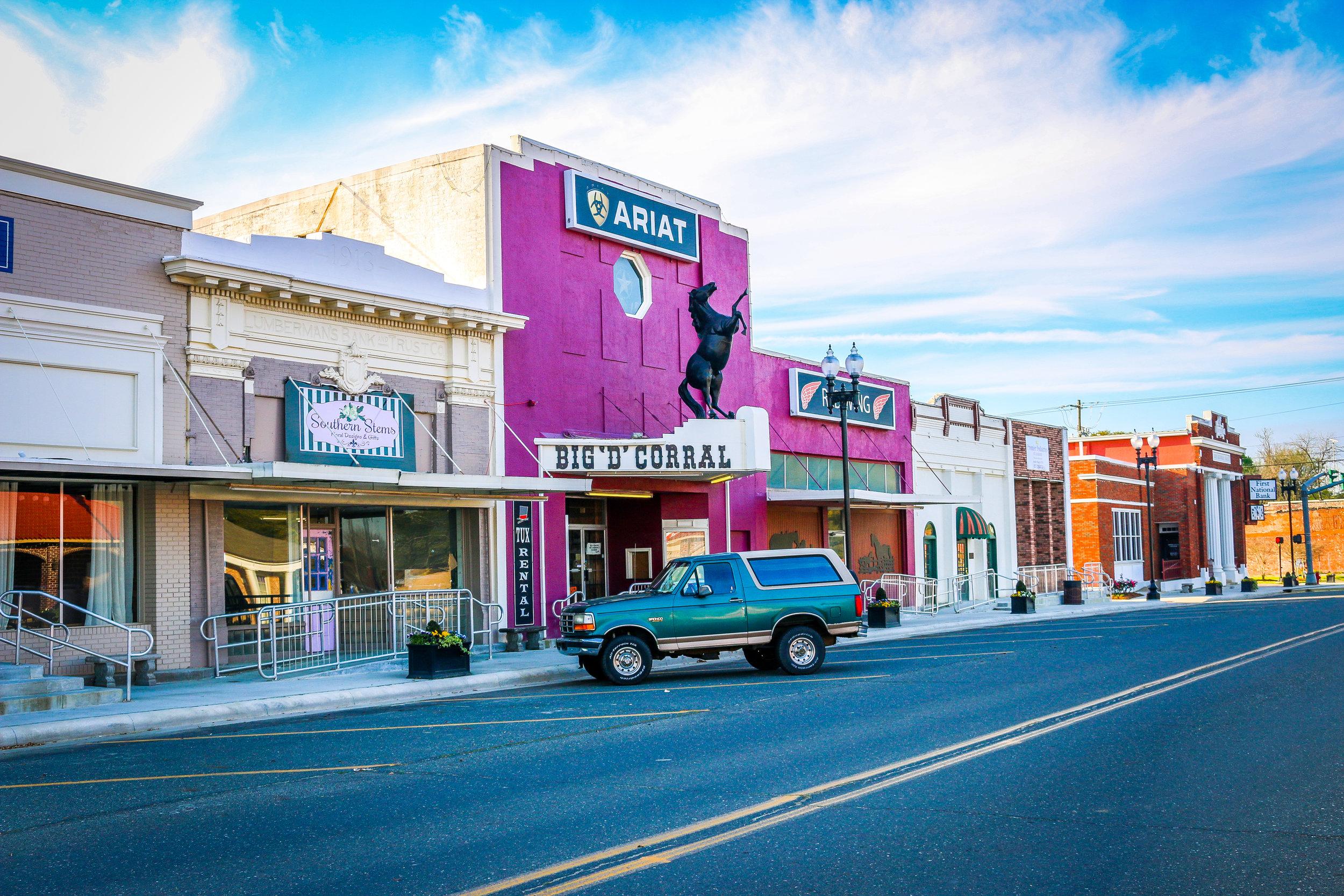 Downtown DeRidder, Louisiana