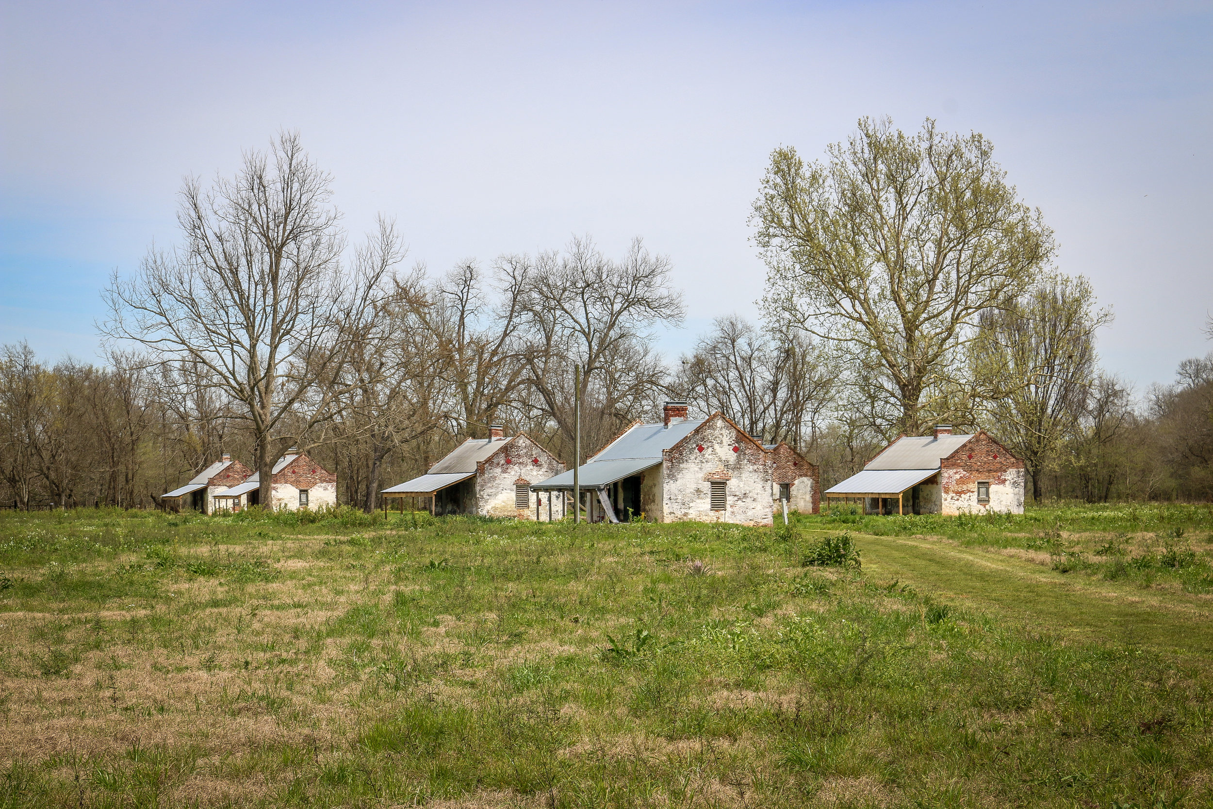 8 of the Original 71 Slave Cabins on Magnolia Plantation