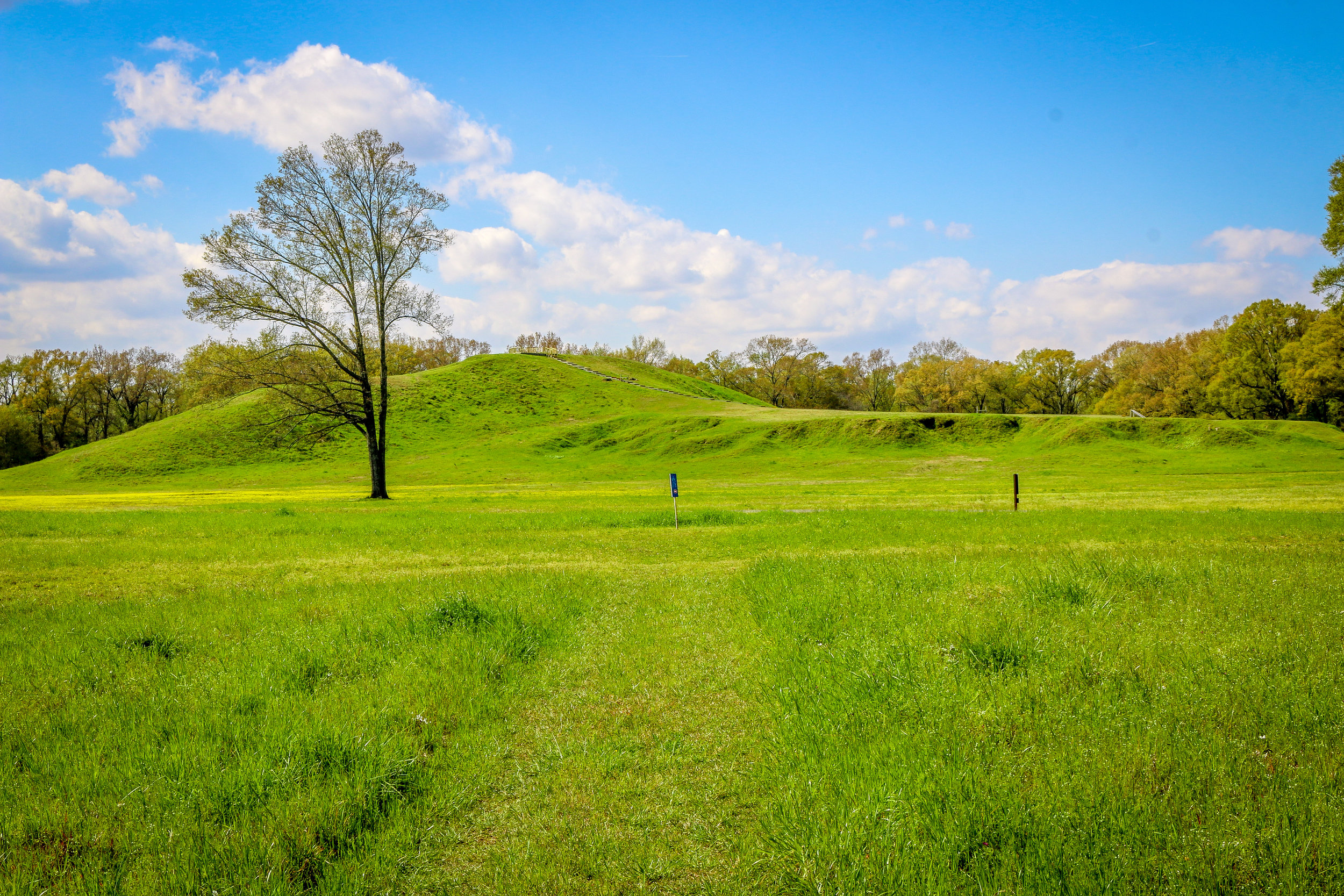 Mound A in Poverty Point World Heritage Site