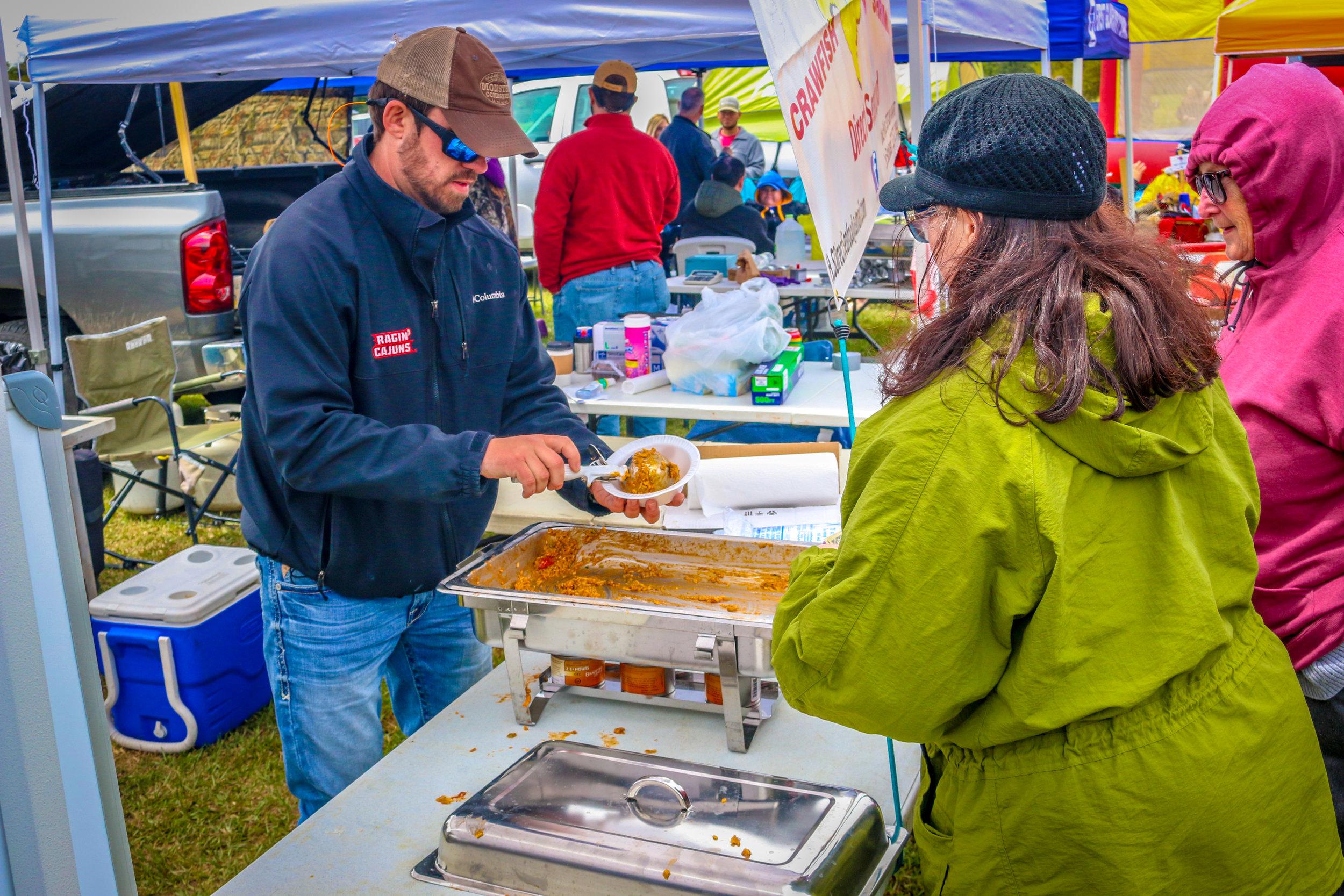 World Crawfish Etouffee Cook-off Eunice Louisiana LA Cajun Food