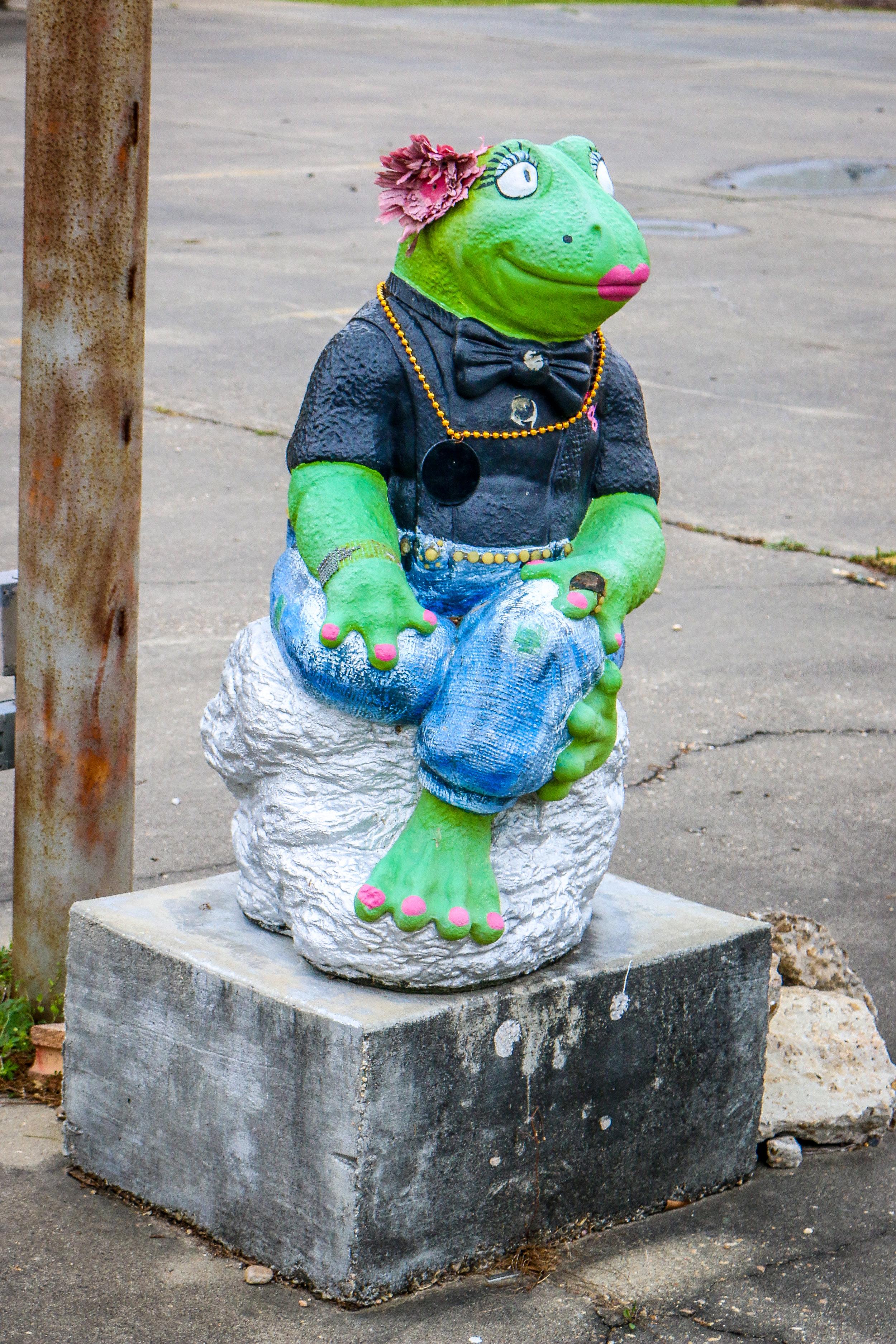 Frog Murals Statues Rayne Louisiana LA