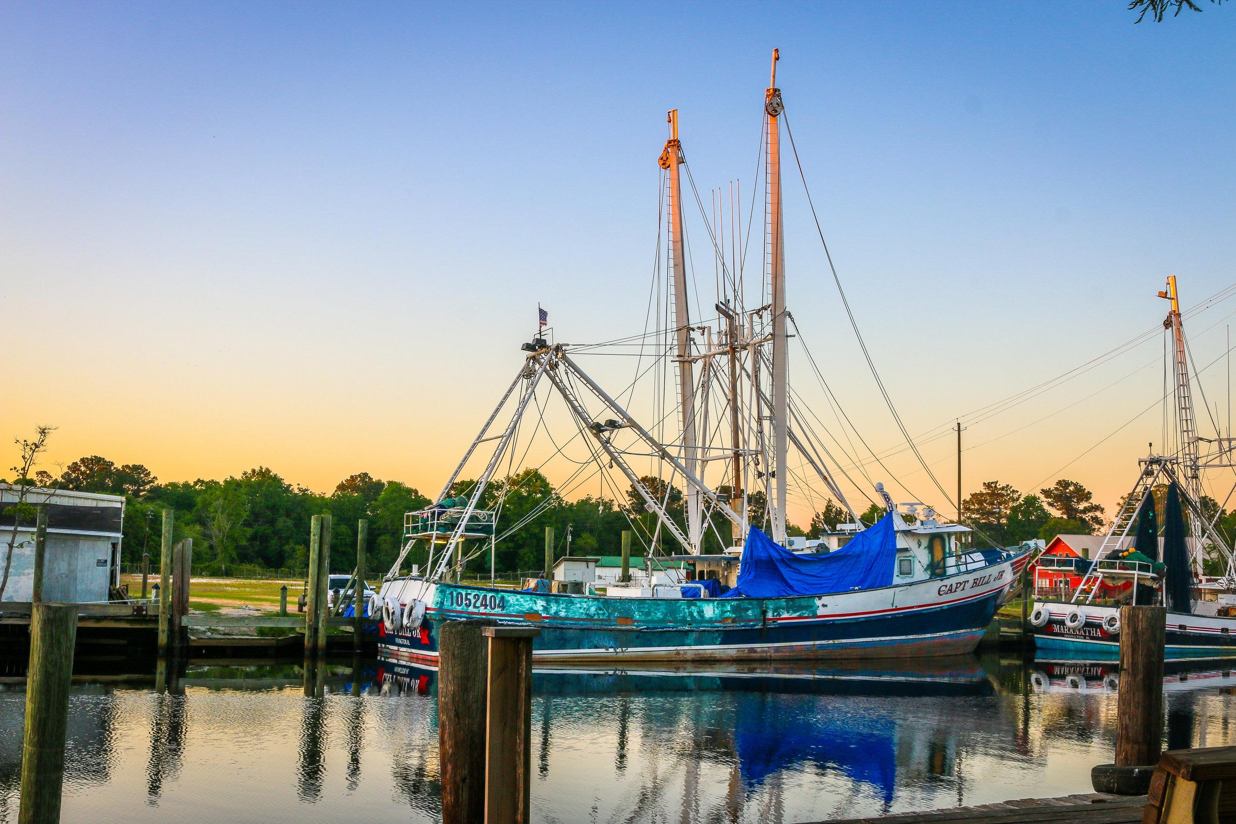 Shrimp Boats in Bayou La Batre